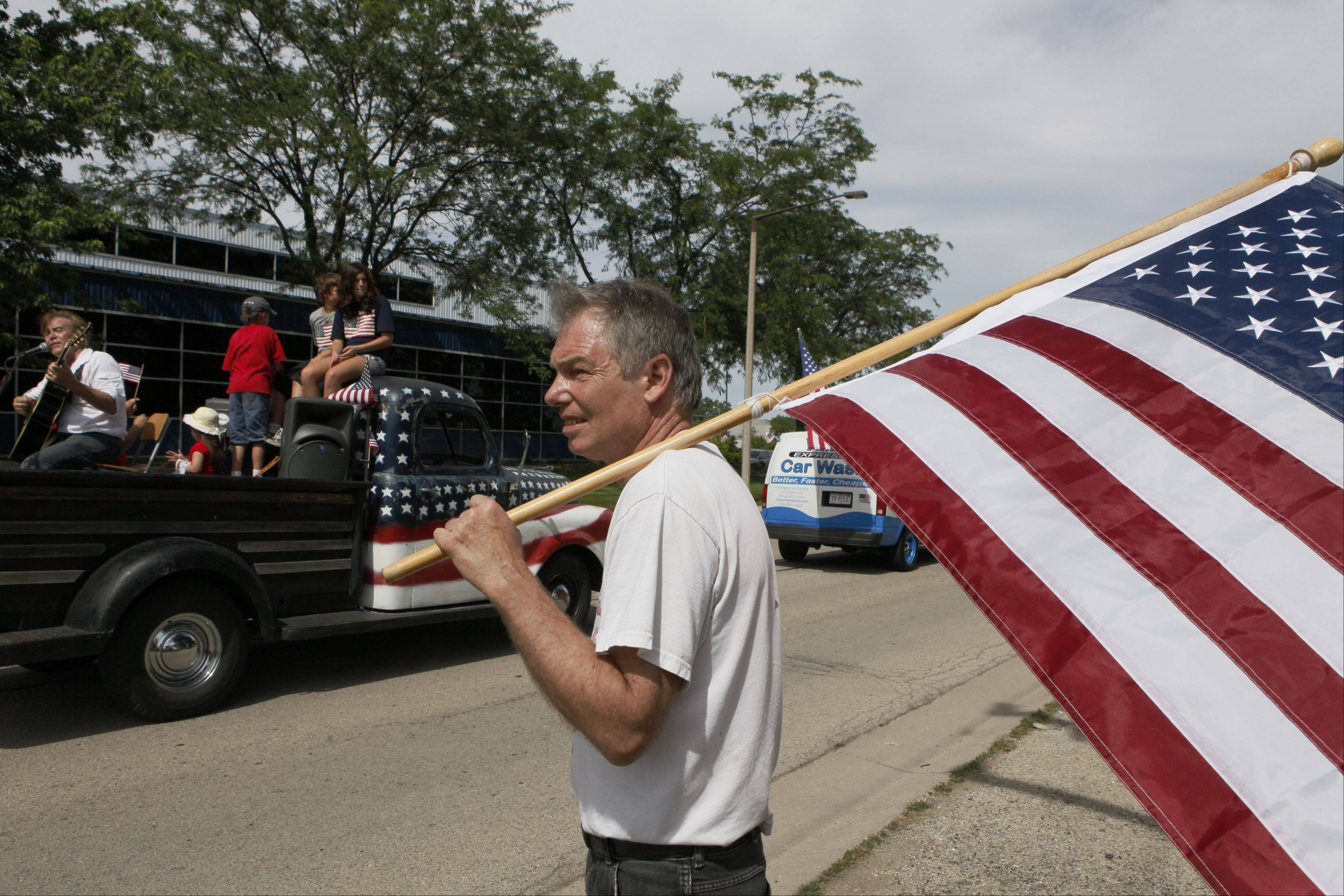 The annual parade at this year's LibertyFest in Bensenville Wednesday will include a float decorating contest.