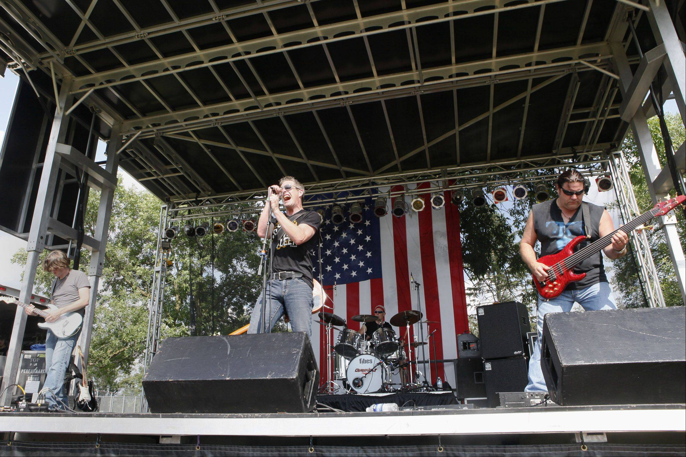 The main stage at Taste of Lombard will host 17 bands over the festival's five days.