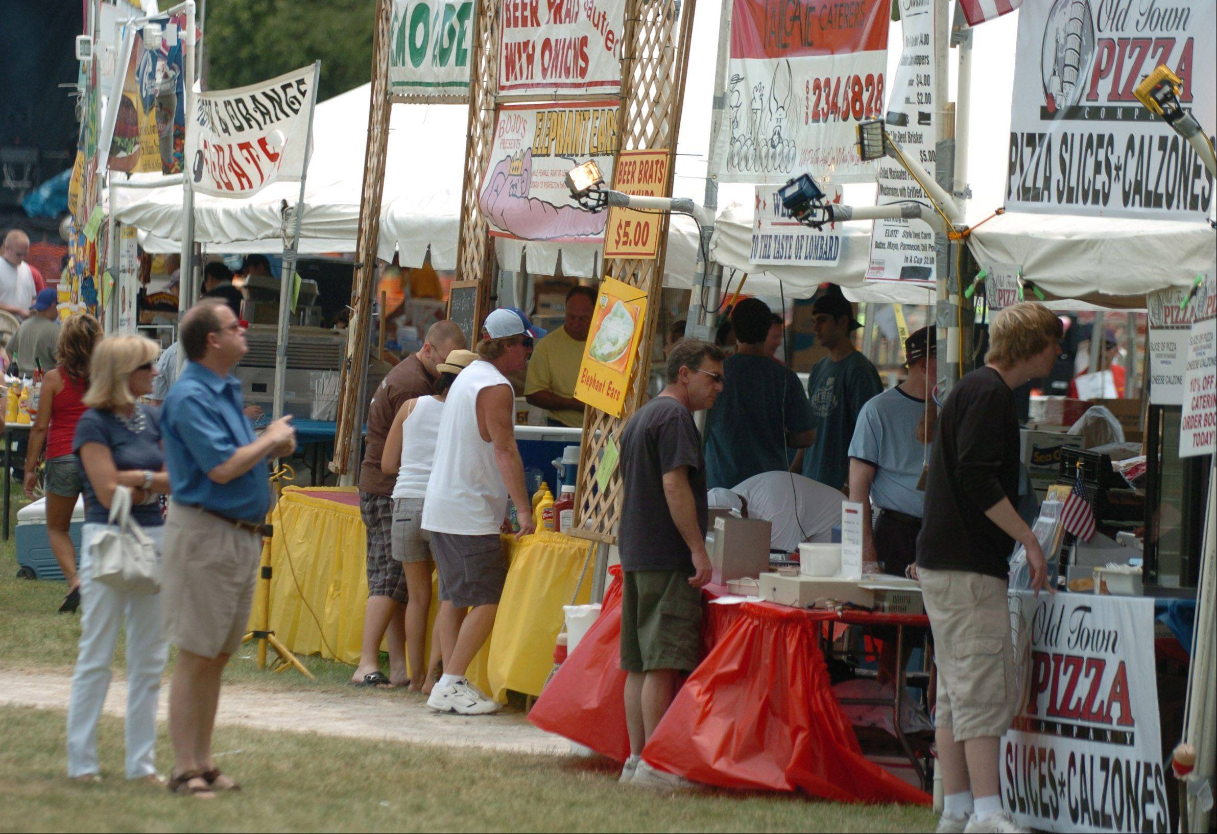 The 30th annual Taste of Lombard will offer food from 23 vendors, including local restaurants Giagnorio's Pizza, Ellyn's and Salt Creek BBQ.