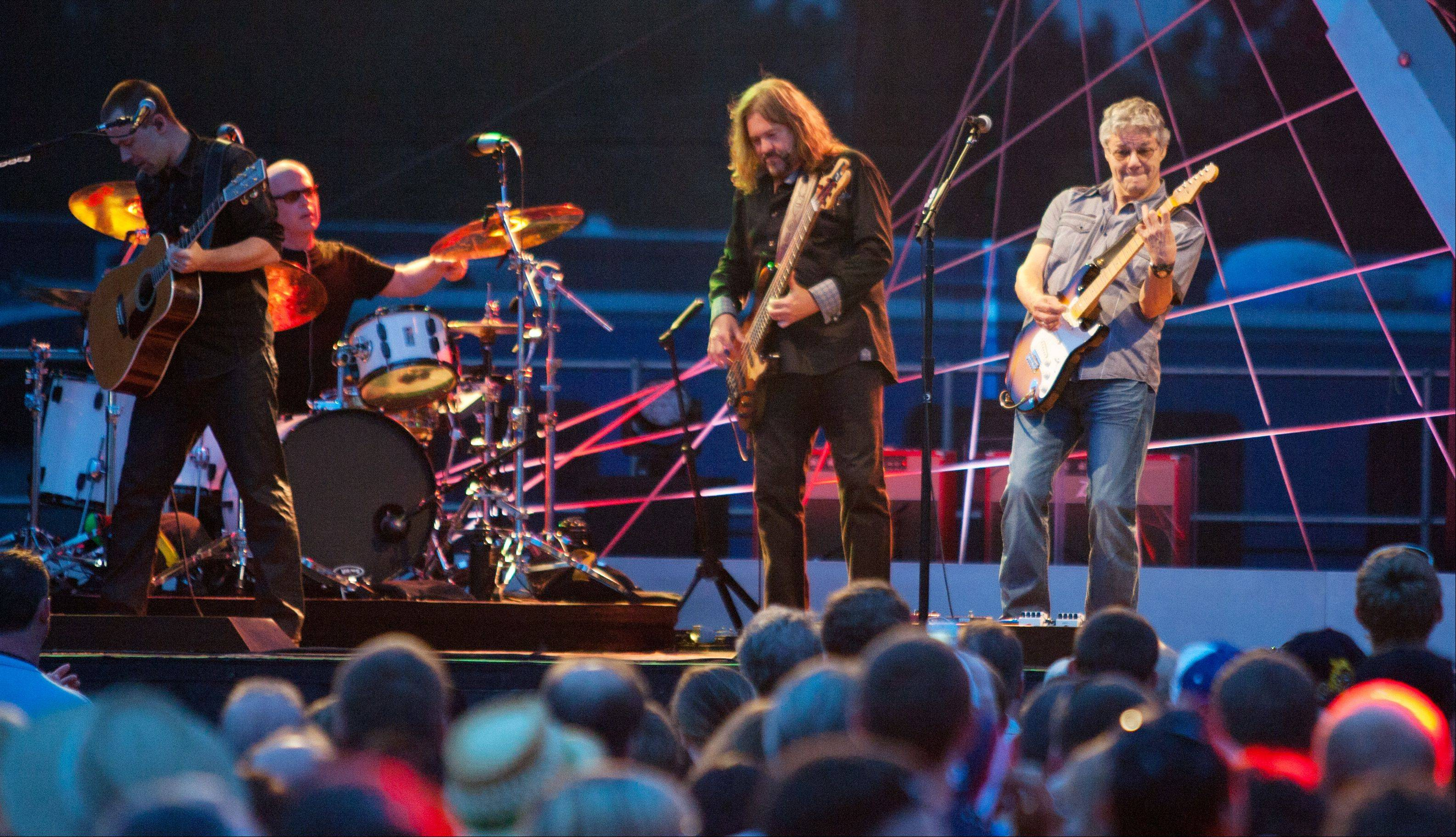 Steve Miller, right, of the Steve Miller Band, headlines the first day of Ribfest in Naperville.