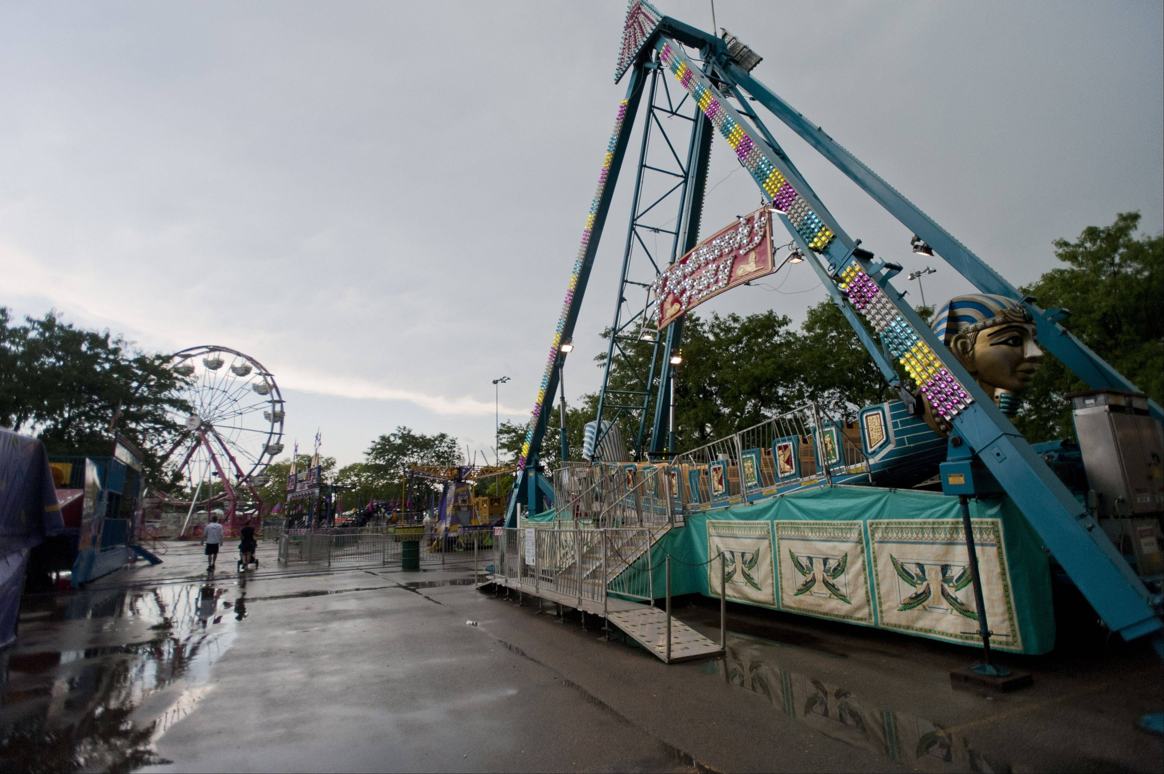 Lisle's Eye to Skies Festival was interrupted by heavy storms on Sunday.