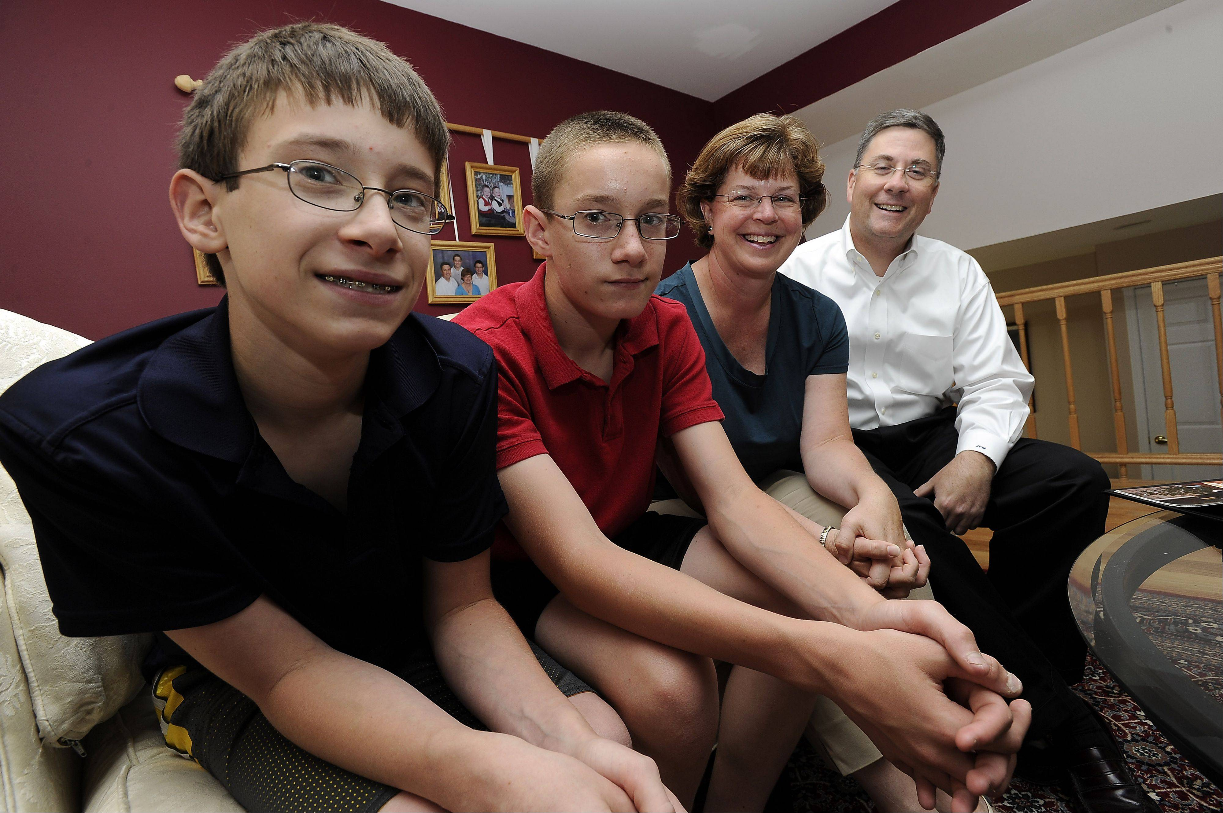 Jack and his twin brother Matt, 13, are heading back to Russia along with their parents, John And Kathy McDermott of Hoffman Estates who adopted them from an orphanage there in 1999.