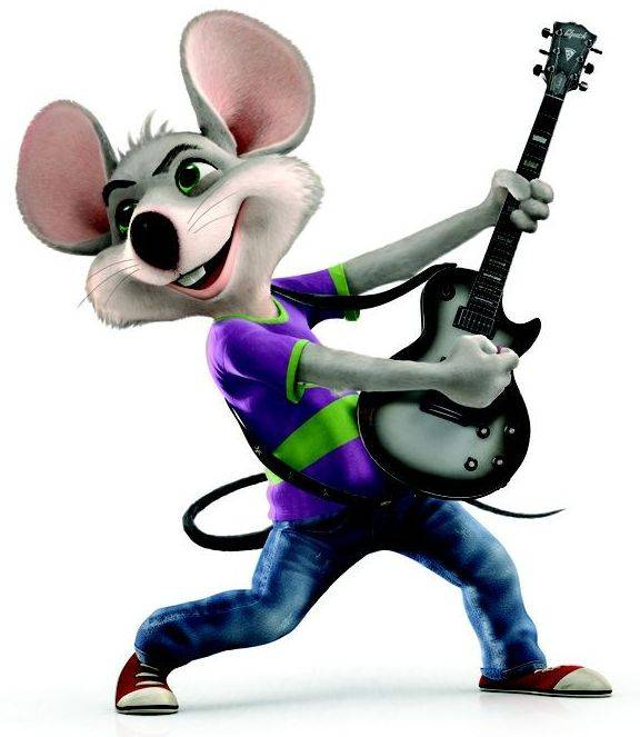 Chuck E. Cheese has undergone a makeover and now is a hip, electric guitar-playing rock star.