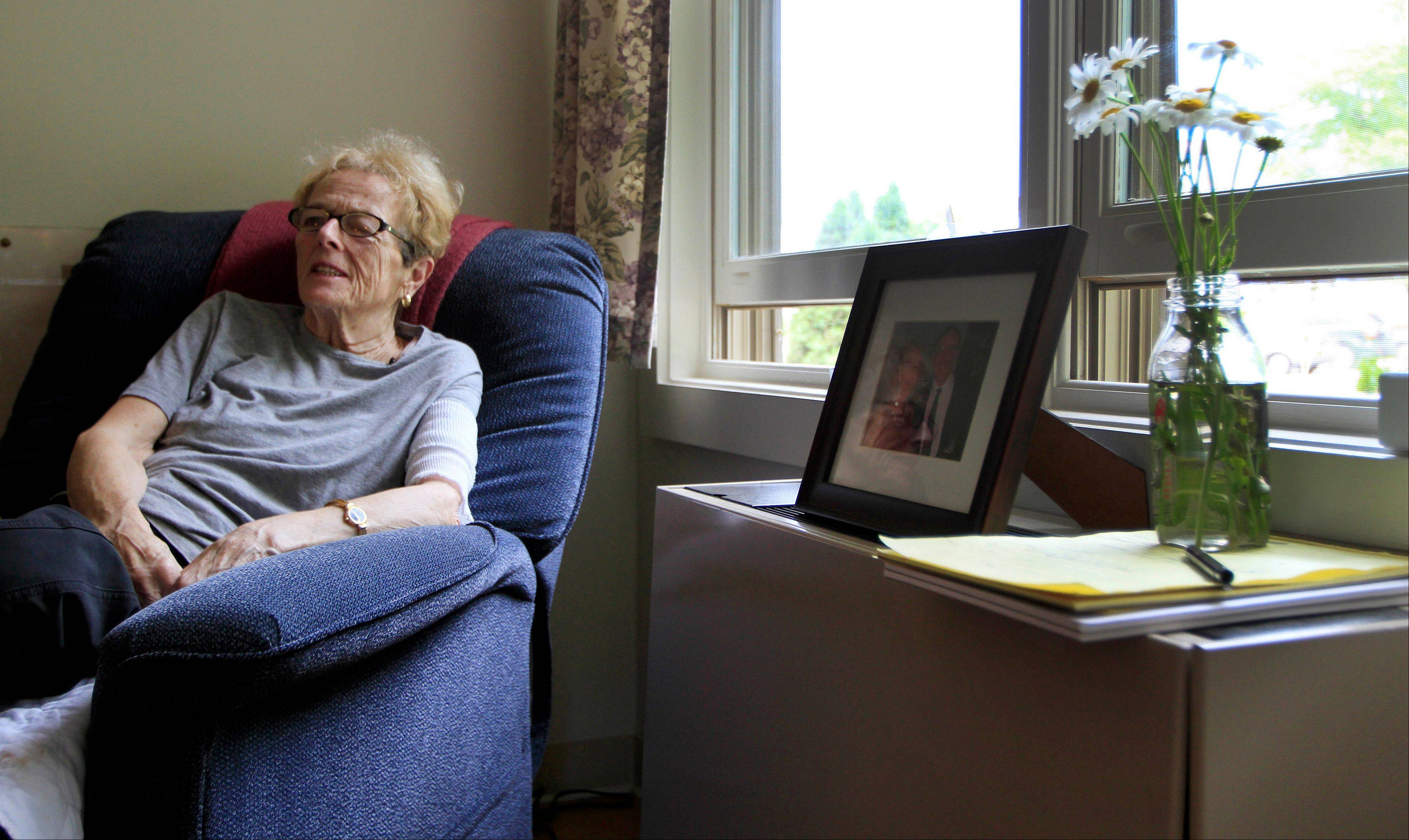 Liz Murphy sits in her room at the Hospice House in Concord, N.H. As they brace themselves for the eventual needs of the aging baby boom generation, hospice providers are working to both diversify their services and dispel misconceptions about what they do.