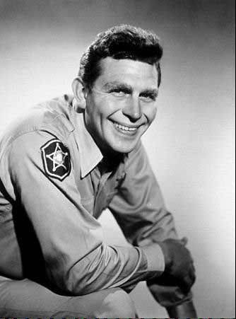 Andy Griffith as the beloved Sheriff Andy Taylor.