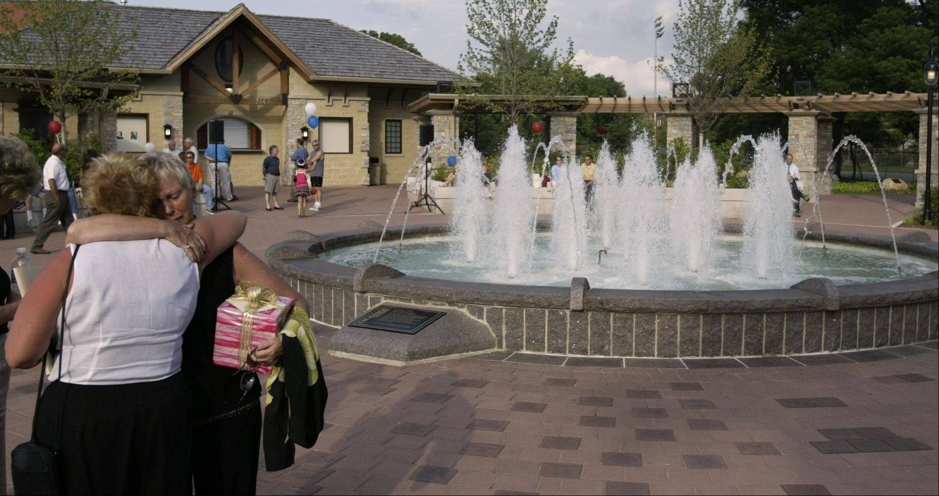 The Memories Fountain at Fredenhagen Park in downtown Naperville was dedicated in June 2004.