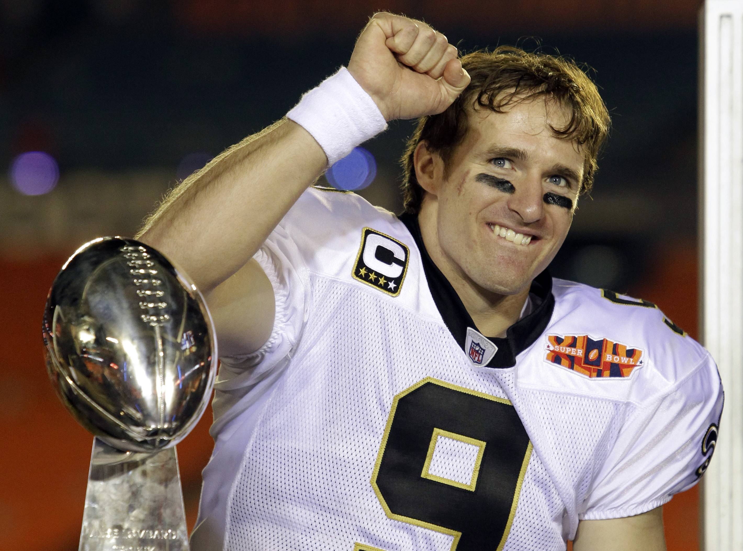 An arbitrator in Philadelphia has ruled in Drew Brees' favor in a dispute over how much the Saints would have to pay him if they applied the franchise tag to the star quarterback again in 2013. The ruling adds leverage to Brees, who has so far skipped the Saints' offseason practices while holding out for a new long-term contract with New Orleans.
