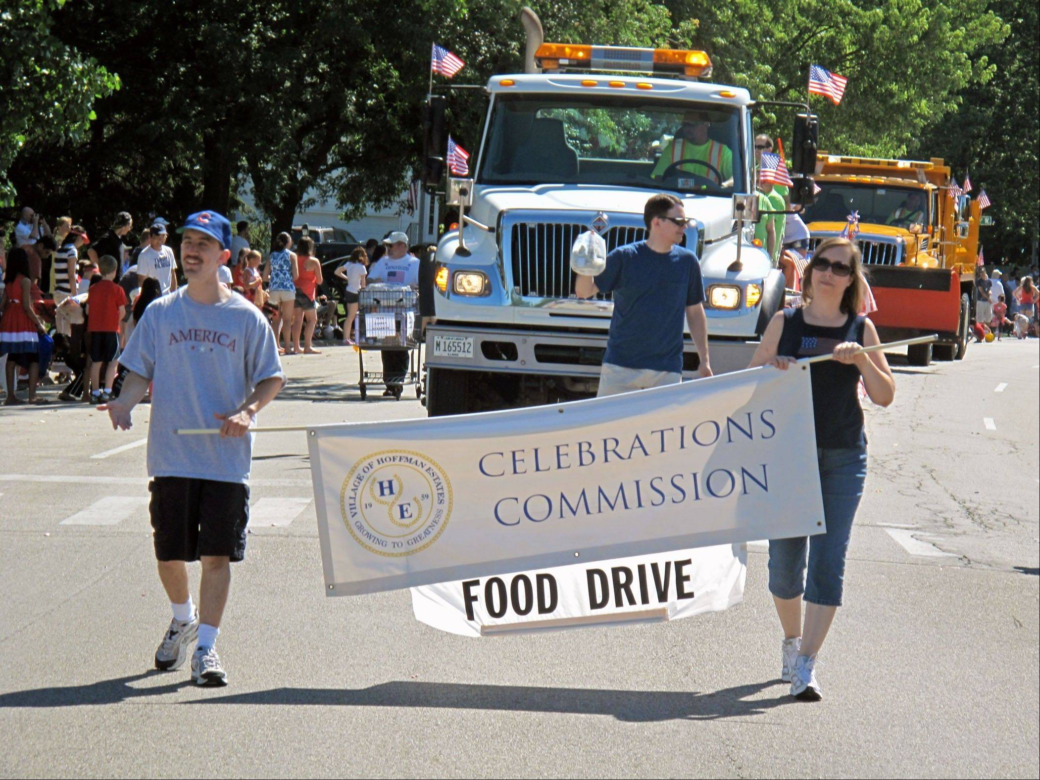Donate food at Hoffman Fourth of July parade