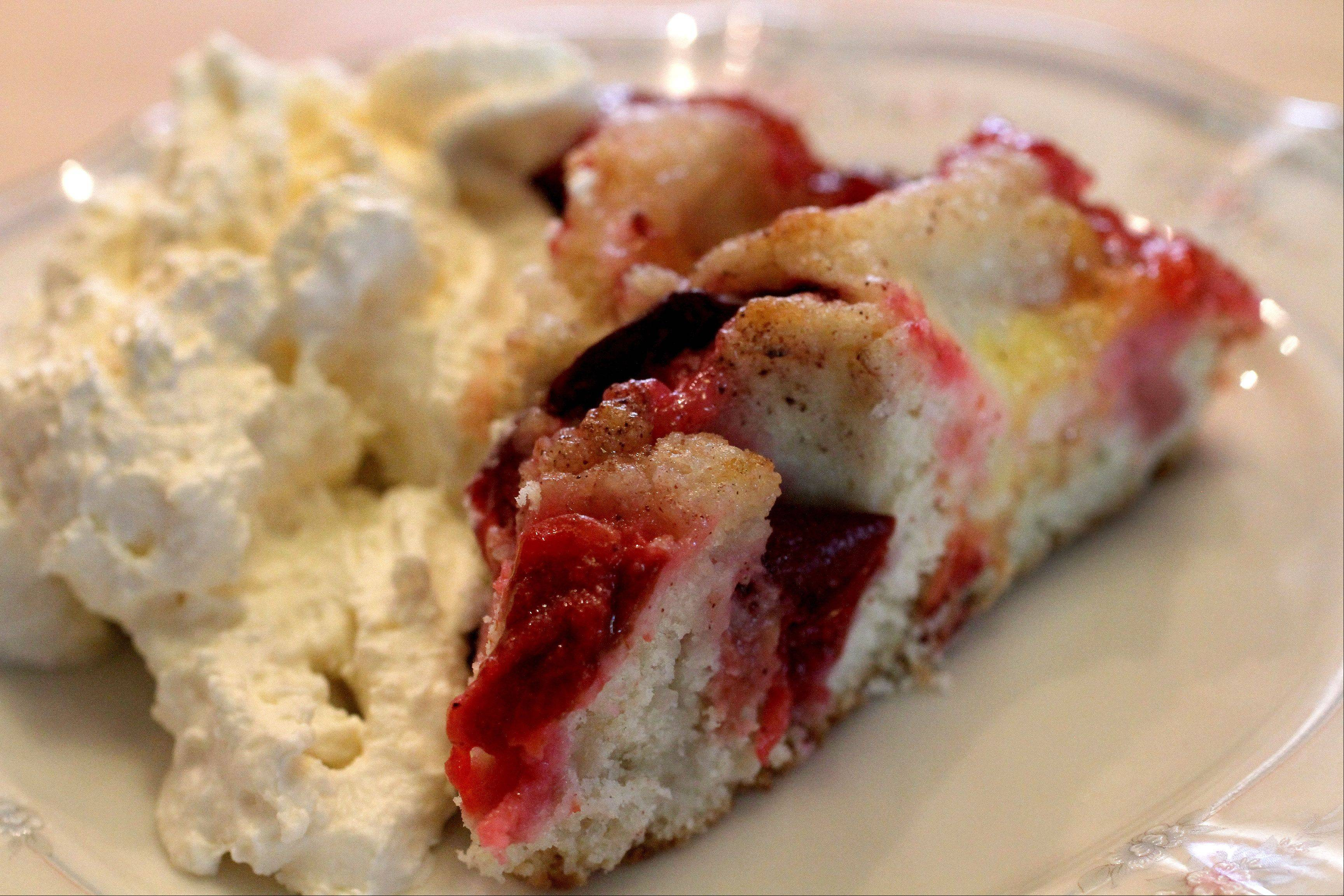 Susan Zybko learned to bake recipes like Plum and Nectarine Kuchen from her grandmothers. You can buy her treats July 11 and Aug. 3 and 17 at the Glen Ellyn Farmers Market.