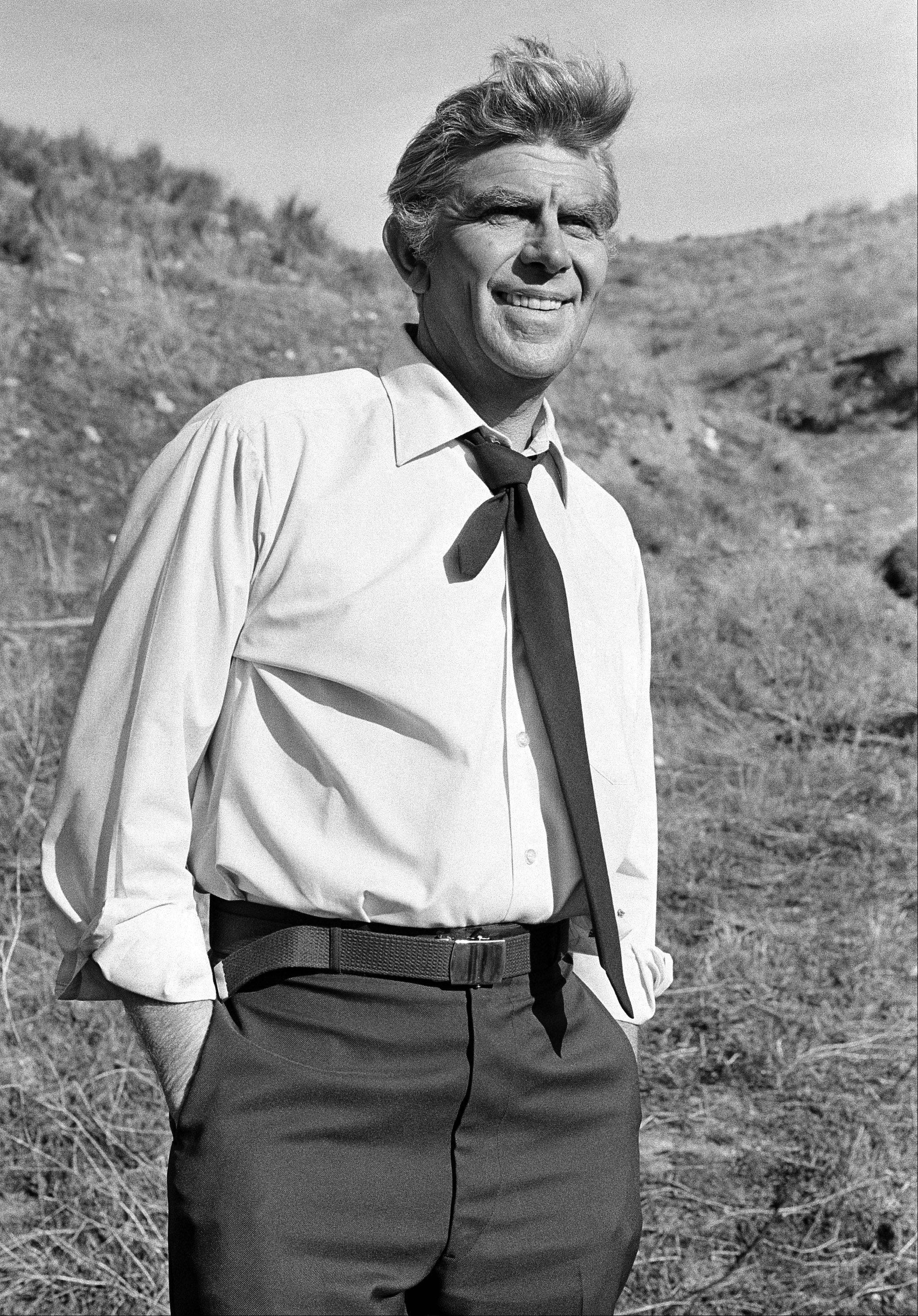 "This Feb. 23, 1979 file photo shows actor Andy Griffith on the set of TV's ""Salvage-1"" near Los Angeles. Griffith, whose homespun mix of humor and wisdom made ""The Andy Griffith Show"" an enduring TV favorite, died Tuesday, July 3, 2012 in Manteo, N.C. He was 86."