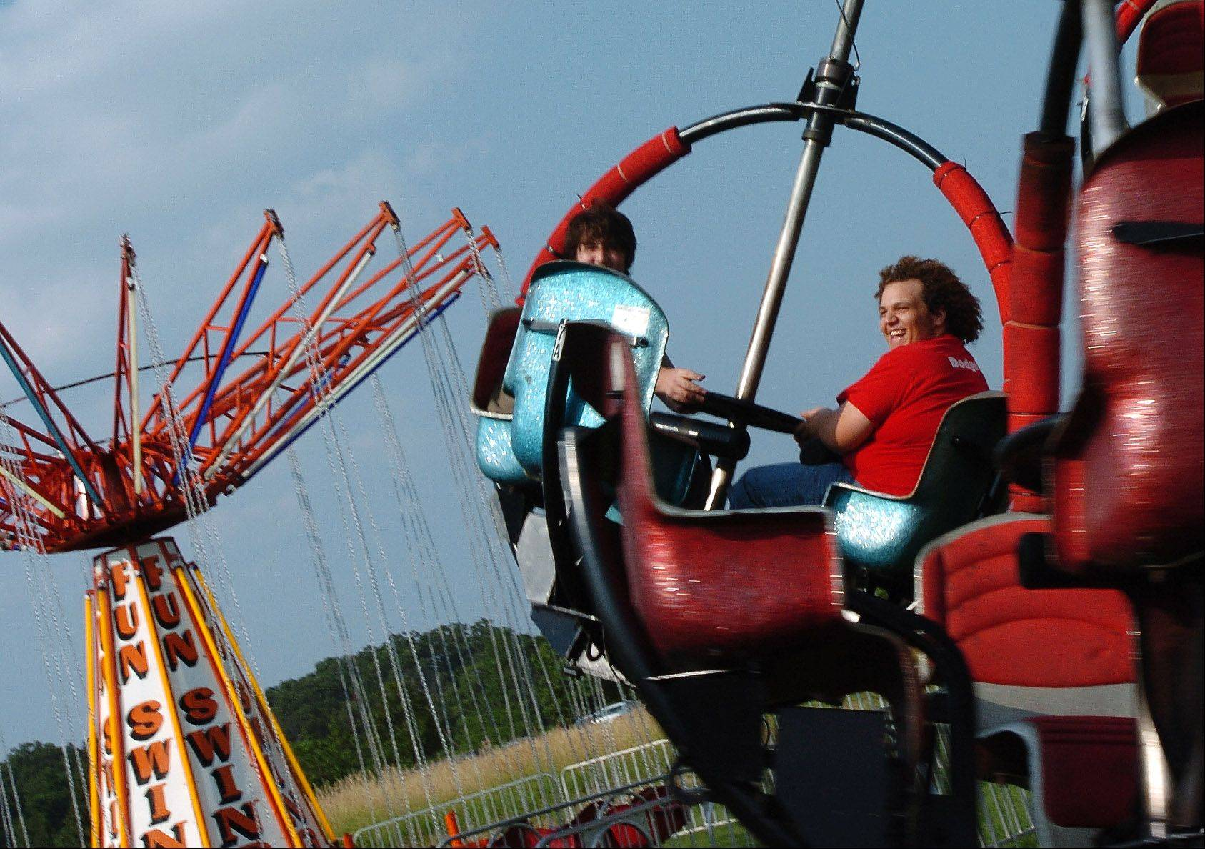 There are plenty of carnival rides at the Bartlett Fourth of July fest.