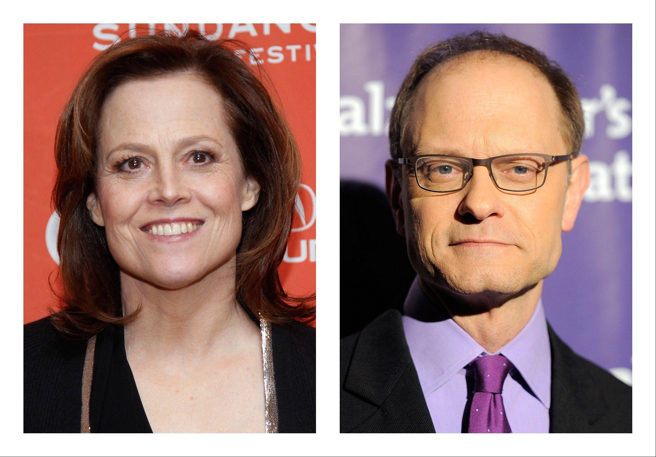 This combination of 2012 file photos shows actors Sigourney Weaver, left, and David Hyde Pierce. Weaver and Pierce are teaming up to play siblings as both make a return to the stage in a Chekhov-inspired play, Christopher Durang�s �Vanya and Sonia and Masha and Spike. � The play, which takes characters and themes from the Russian playwright and sets them in present day Pennsylvania, will start in fall 2012 at the McCarter Theatre in New Jersey before jumping to Lincoln Center Theater in New York in October 2012.