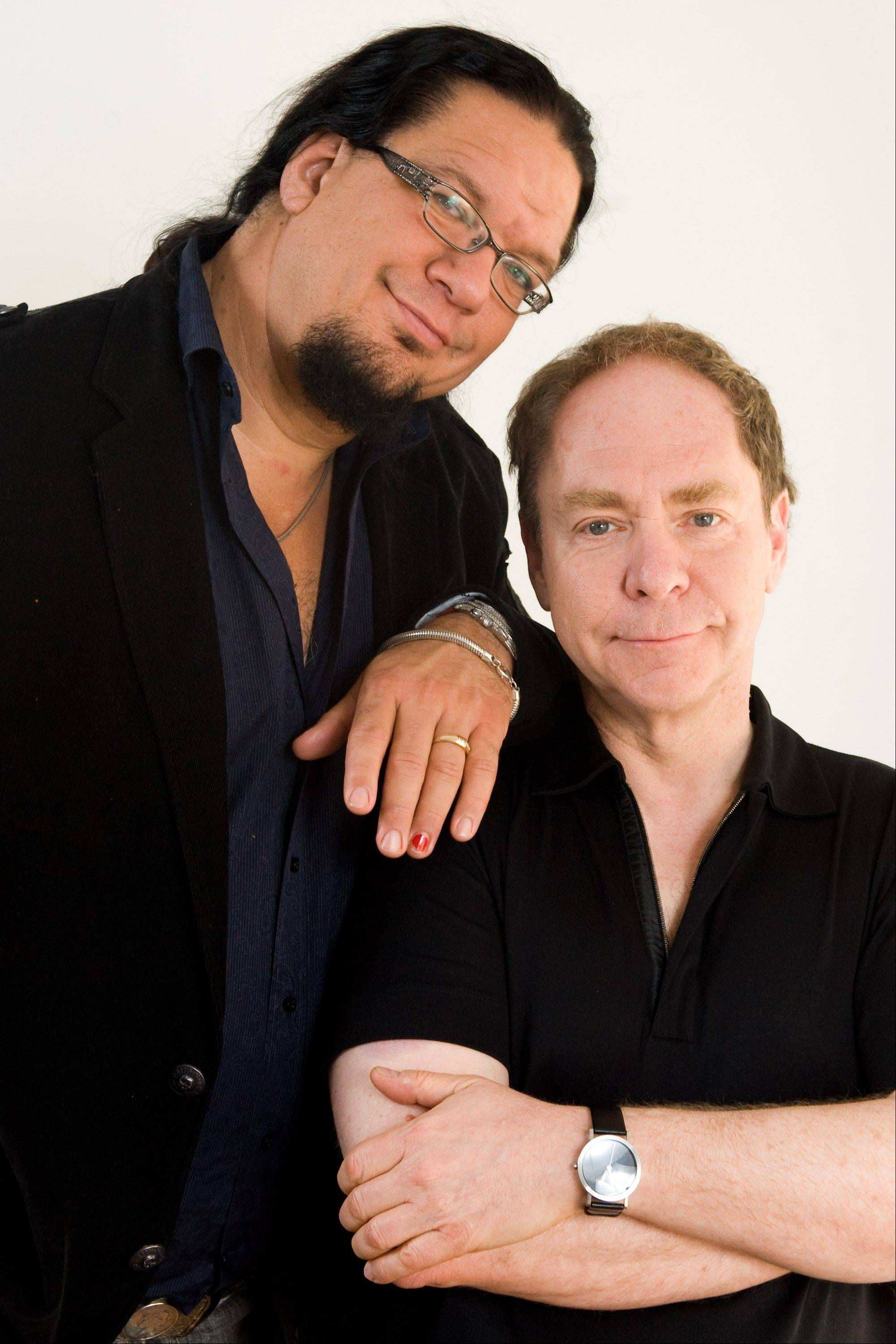 Magicians Penn & Teller pose for a portrait in 2009. Penn Jillette will appear himself in Naperville.