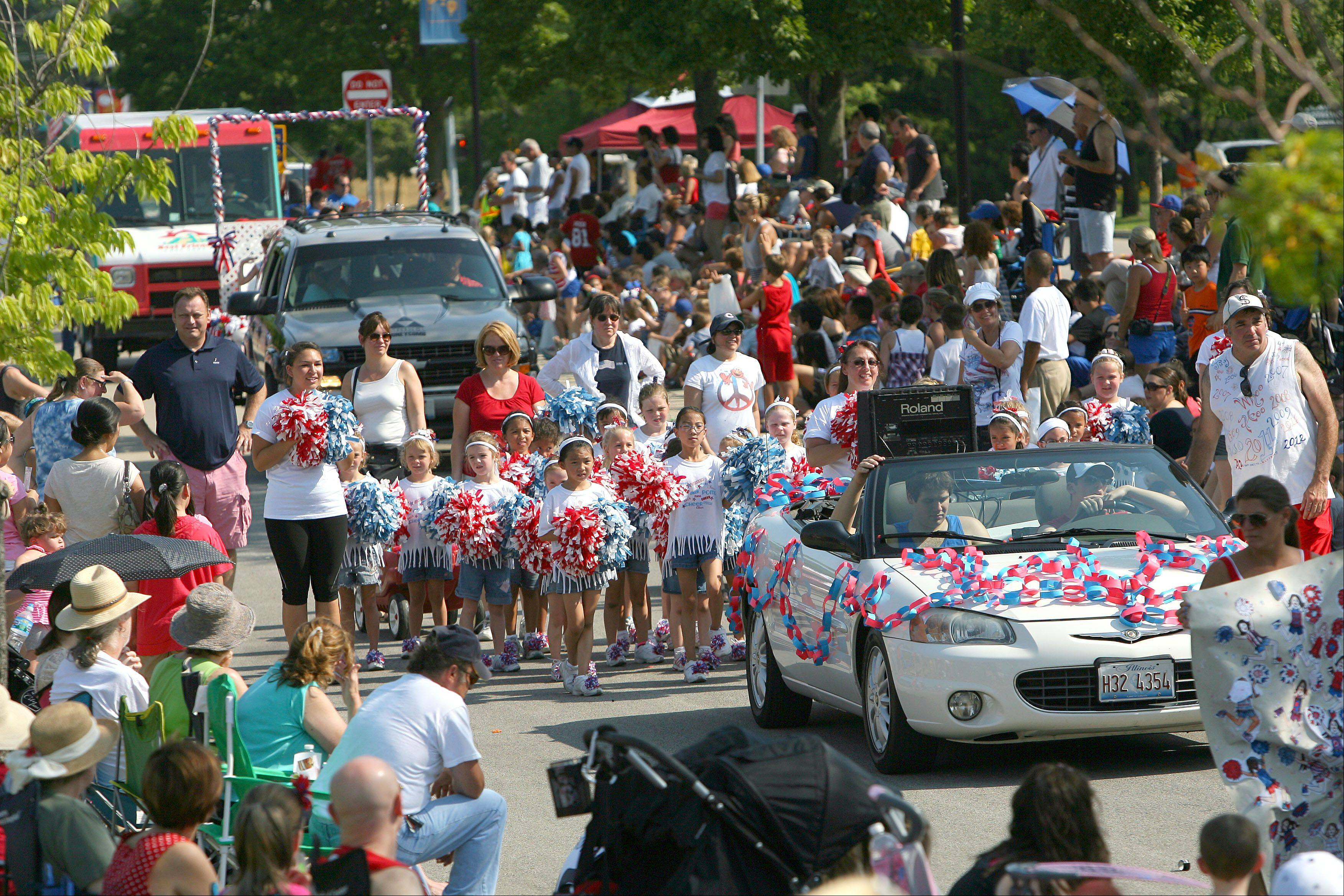 The Vernon Hills Fourth of July Parade kicked off Wednesday morning winding down Deerpath and Atrium Drives.