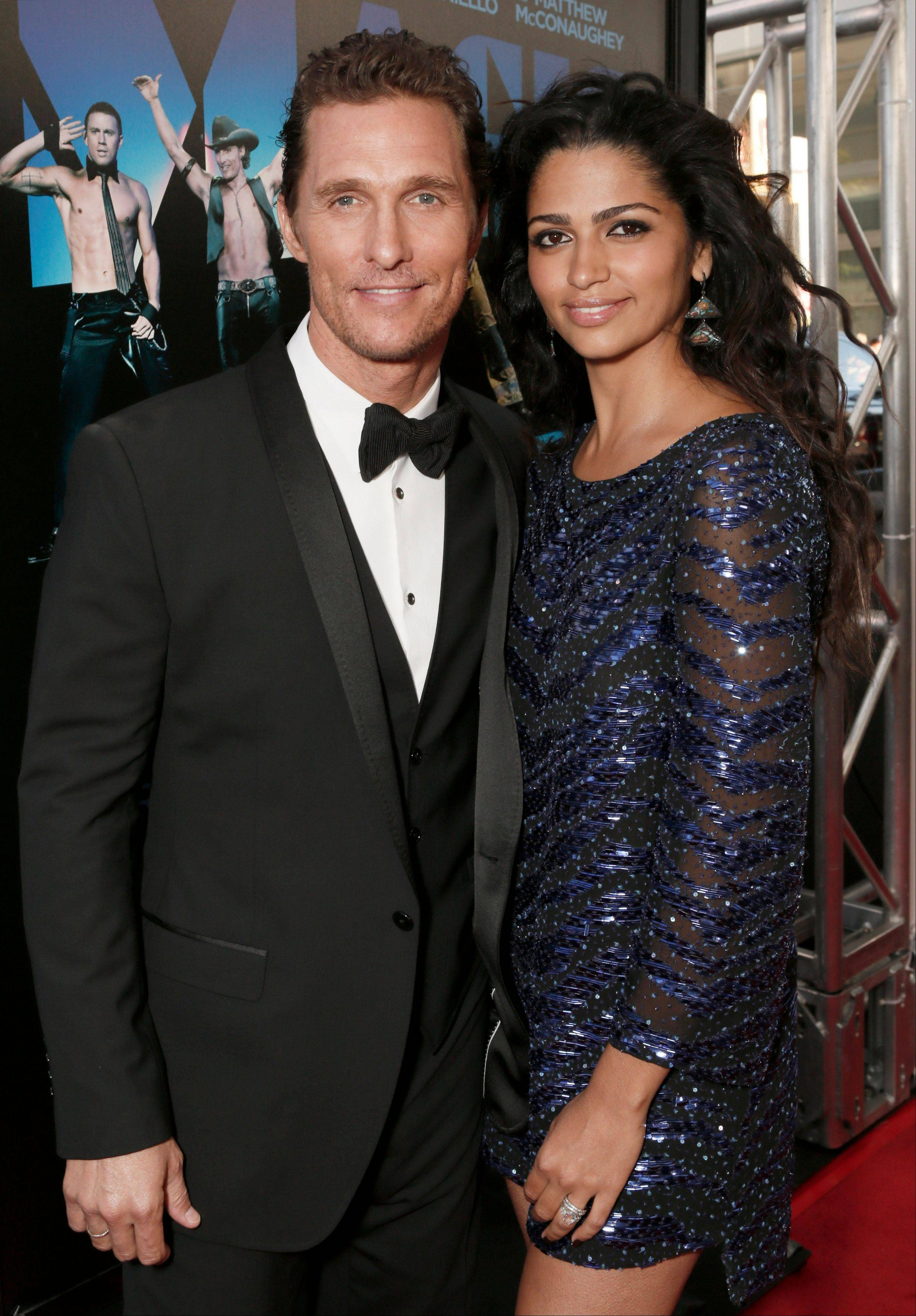 Actor Matthew McConaughey and his wife Camila Alves McConaughey are expecting their third child. McConaughey, 42, wed 29-year-old Alves last month in a ceremony at their Austin, Texas home. The couple have a son named Levi, who turns 4-years-old this week and a 2-year-old daughter named Vida.