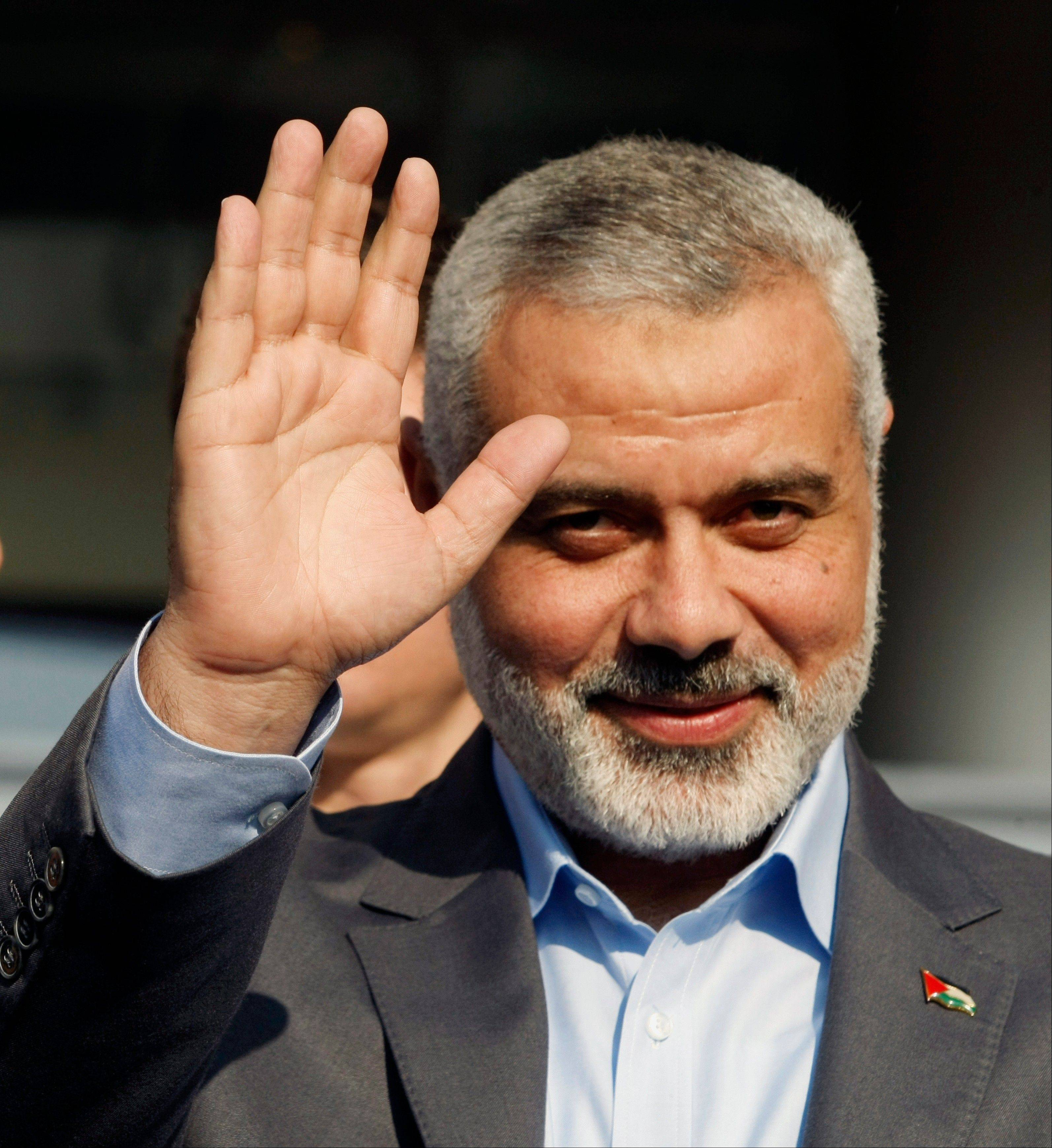 Gaza Strip Hamas Premier Ismail Haniyeh. A Palestinian official said Thursday, July 5, 2012 that Gaza's prime minister will head to Cairo within the next two weeks to meet with Egypt's new Islamist president, who has close ties with the territory's Hamas rulers.