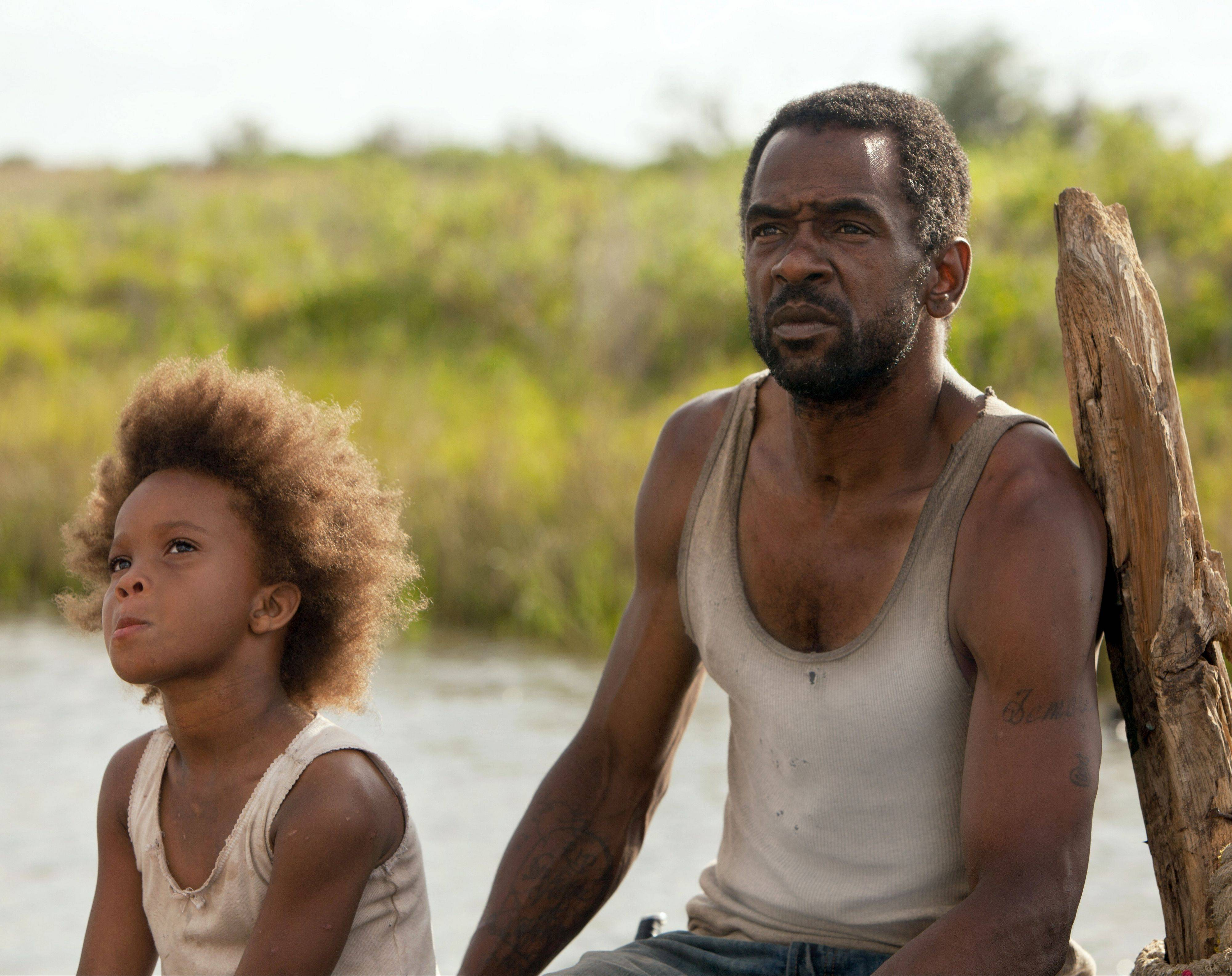 "Wink (Dwight Henry) and his young daughter Hushpuppy (Quvenzhane Wallis) eke out a meager existence in post-Katrina Louisiana in Benh Zeitlin's impressive first feature ""Beasts of the Southern Wild."""