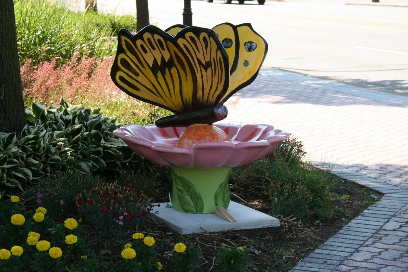 There are 64 painted butterflies out now, and more are coming.