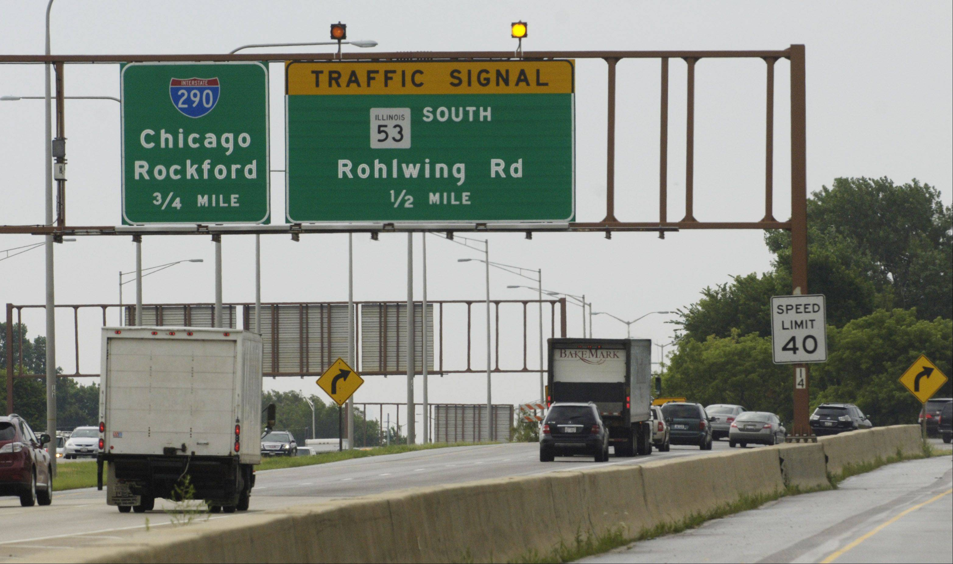 The Elgin-O'Hare Expressway's east end now is at Rohlwing Road, but plans are in the works to extend it to O'Hare International Airport.