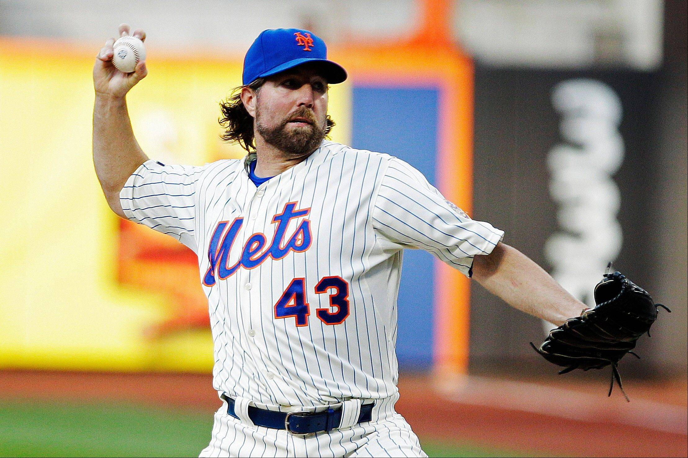 New York Mets pitcher R.A. Dickey has walked just 26 batters in 120 innings. His 123 strikeouts are 11 shy of his career high, established last year in 208 innings.