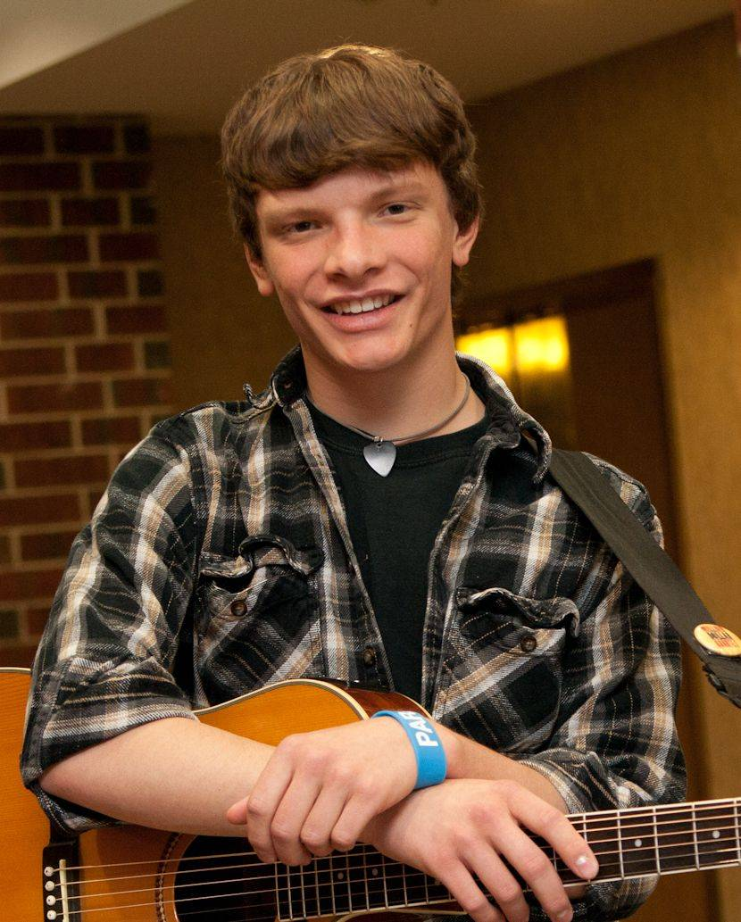 Suburban Chicago's Got Talent top 20 finalist James Woodraska of Millington. His stage name is Woody James.
