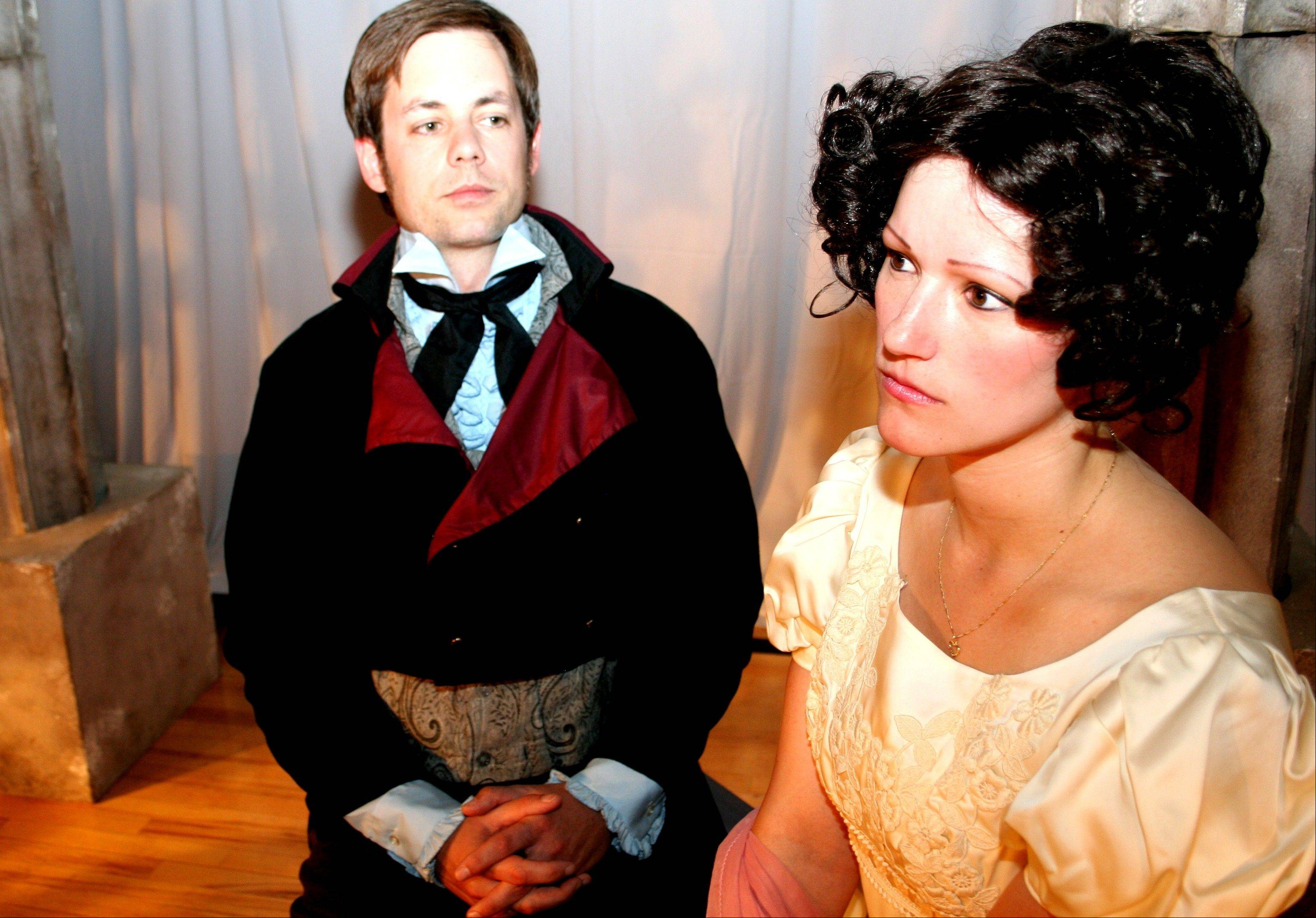 "Cady Leinicke and Robert Richardson star in Janus Theatre Company's entertaining production of ""Pride and Prejudice,"" adapted by Jon Jory from Jane Austen's timeless comedy of manners and marriage."