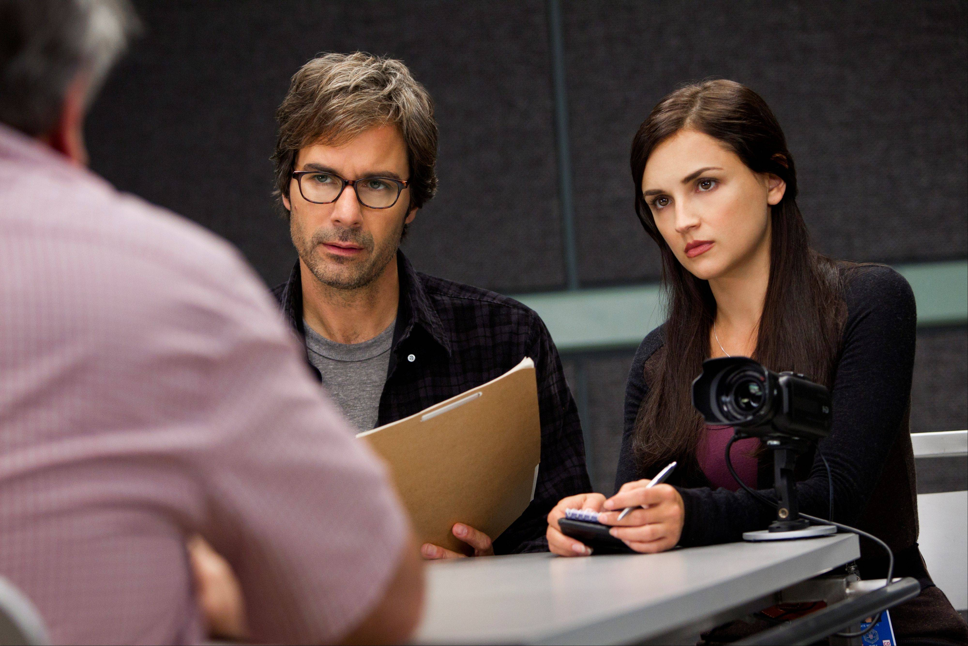 "Eric McCormack and Rachael Leigh Cook star in the new TNT series ""Perception,"" premiering at 9 p.m. Monday, July 9."
