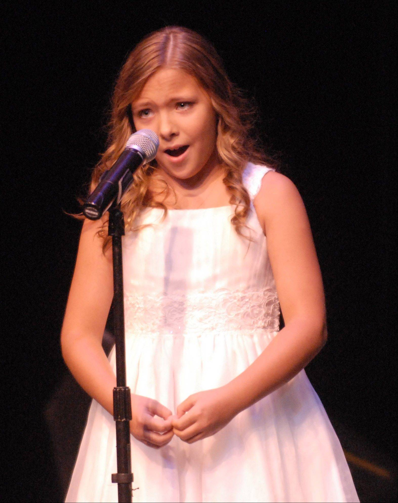 "Agne Giedraityte, 10, of Downers Grove, performs ""Ave Maria."""