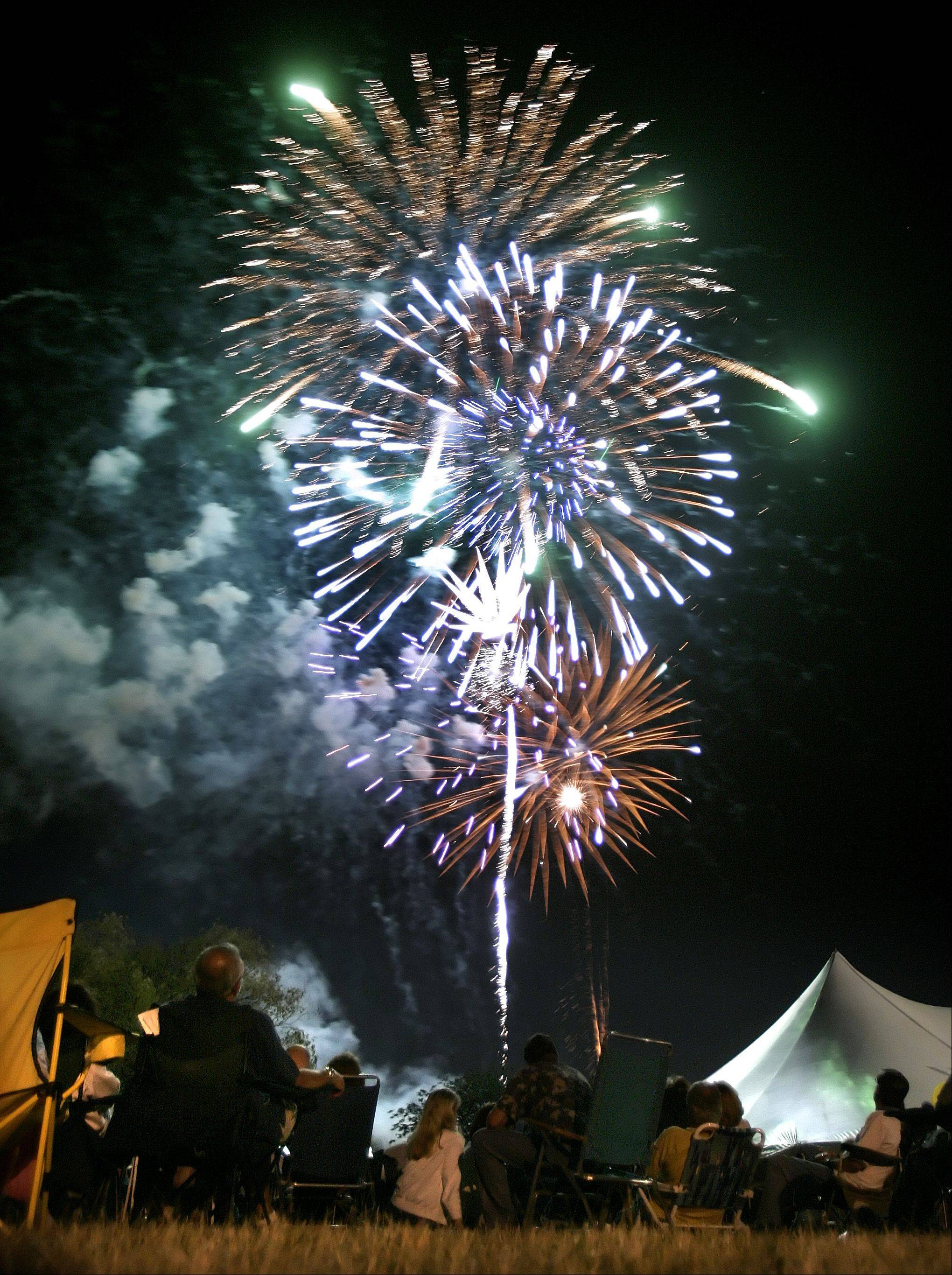 The first day of Vernon Hills Summer Celebration 2005 ended with a spectacular fireworks show.