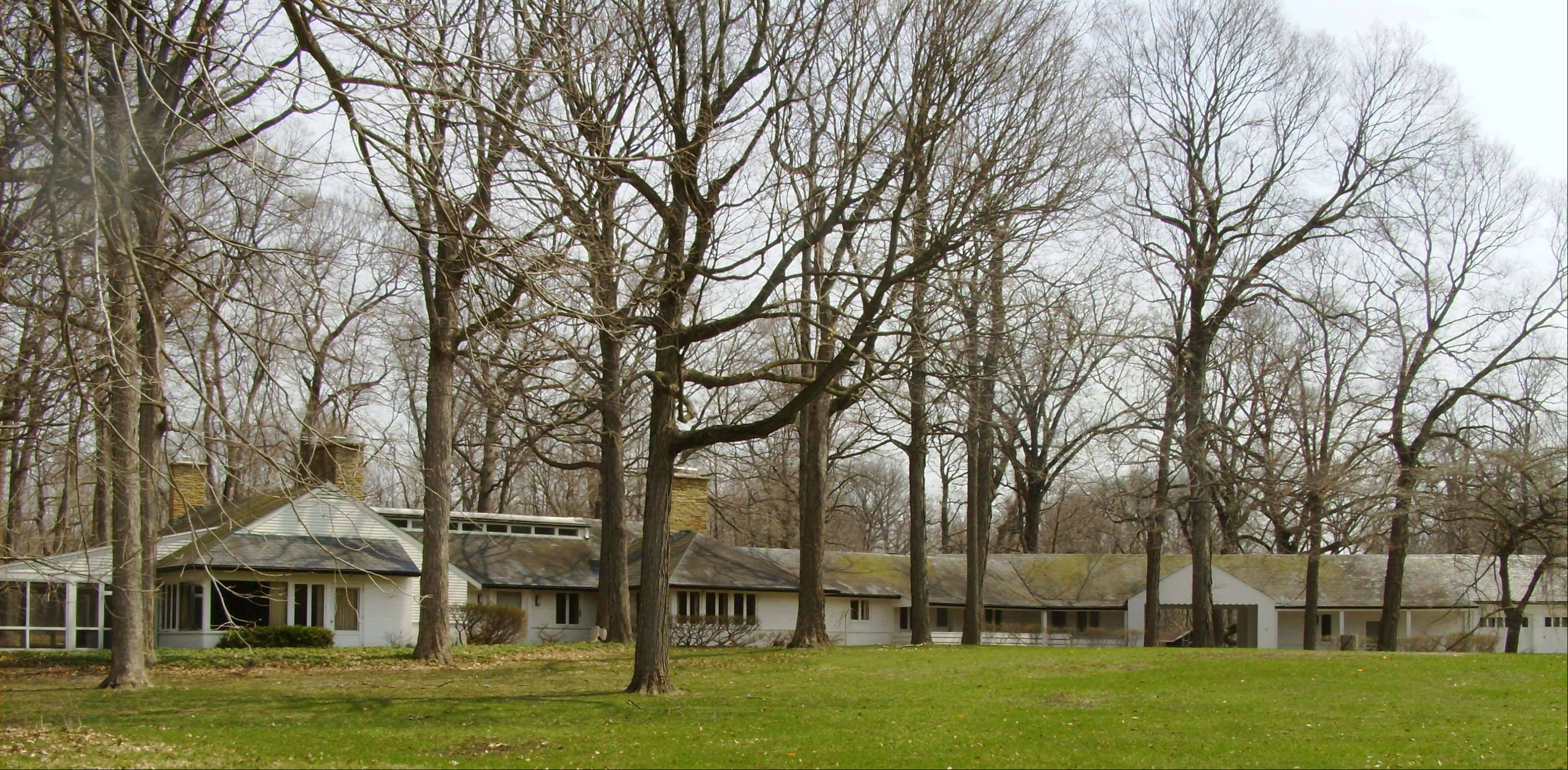 The Glen A. Lloyd House, constructed in 1936, is the estate house in the Lloyd's Woods portion of the Lake County Forest Preserve's 612-acre Daniel Wright Woods.