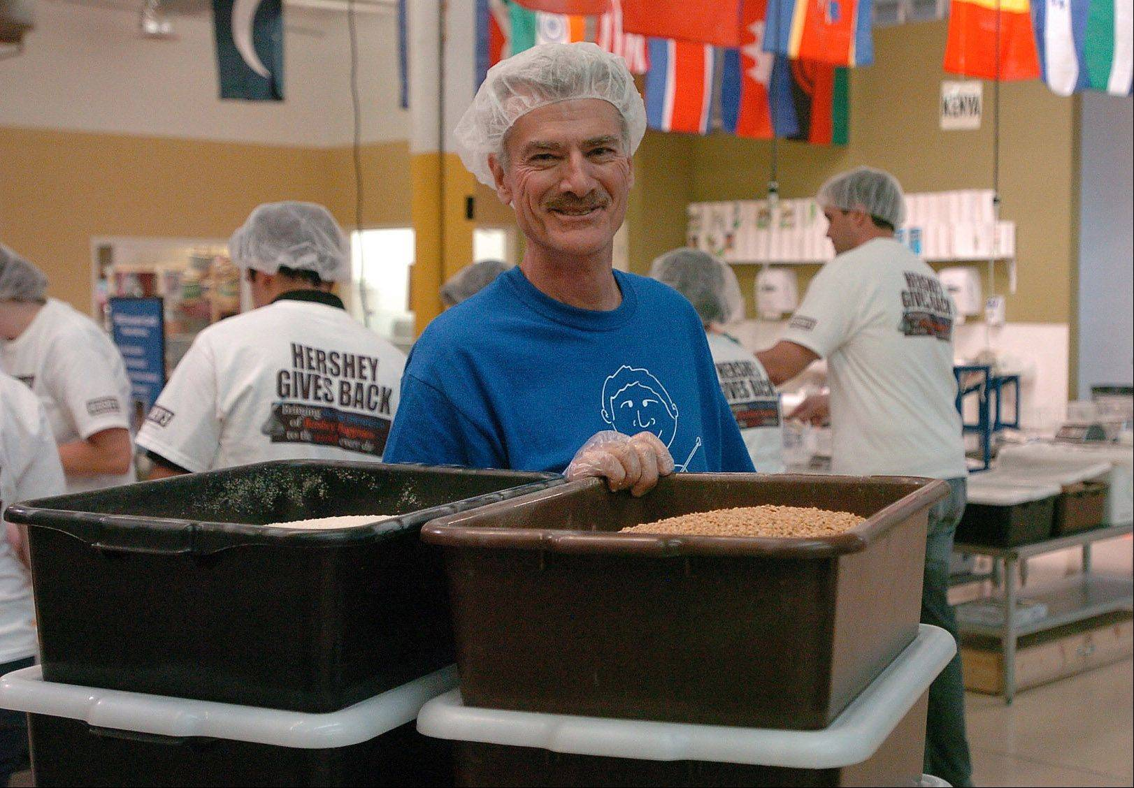 Direnzo enjoys volunteering at Feed My Starving Children.