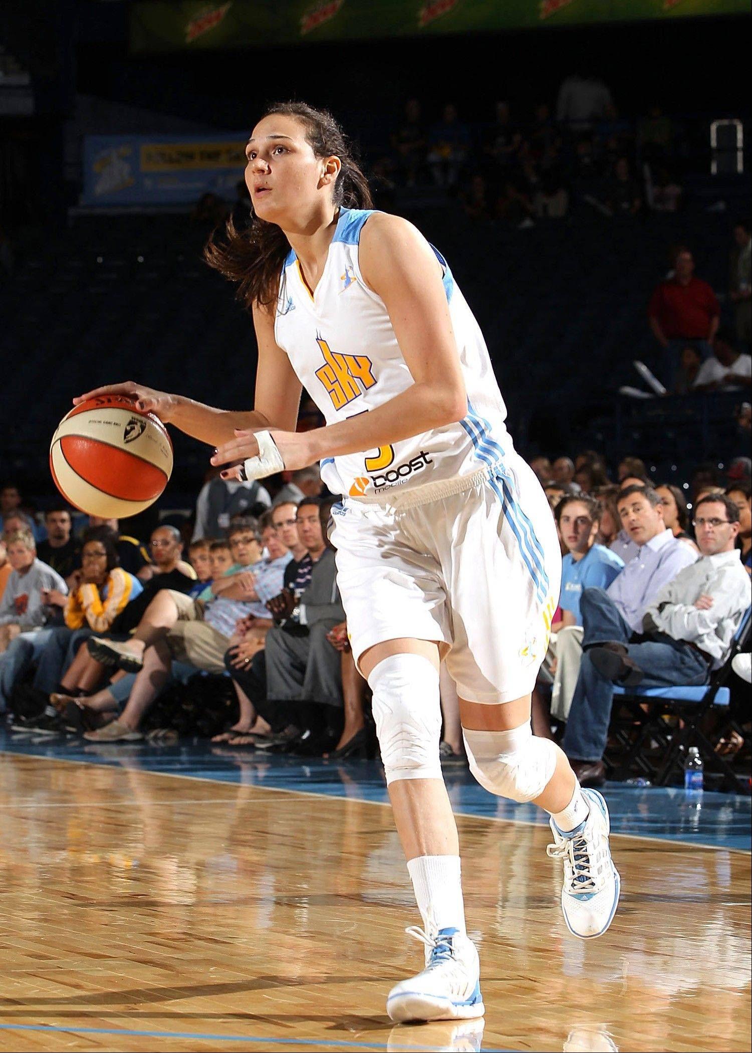 At 23, Sonja Petrovic is a rookie in the WNBA, but this 6-foot-1 small forward for Chicago Sky has nine years of experience playing professional basketball in Europe.