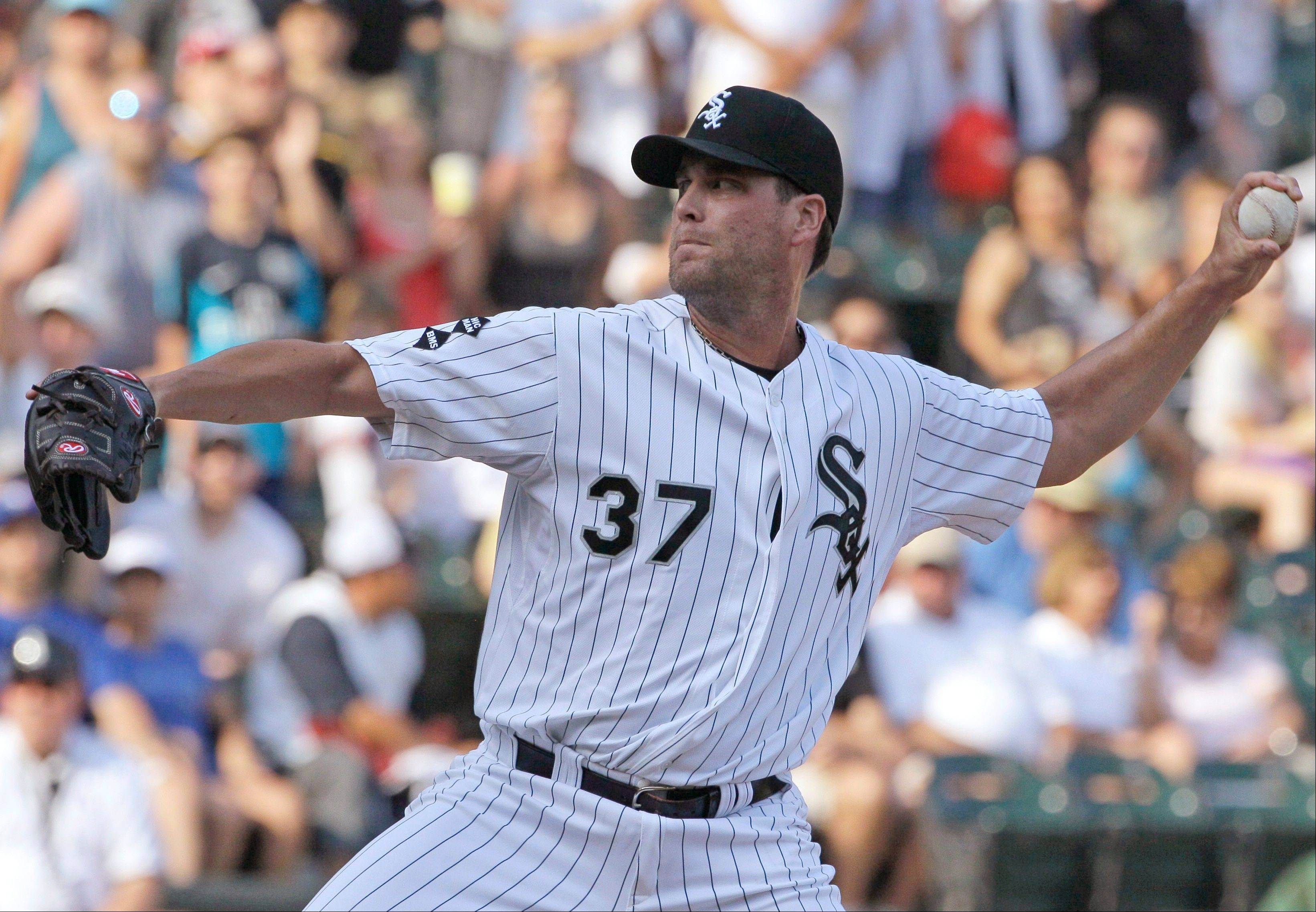White Sox relief pitcher Matt Thornton earned the save in Saturday�s 2-0 victory over the Blue Jays by getting the final four outs.