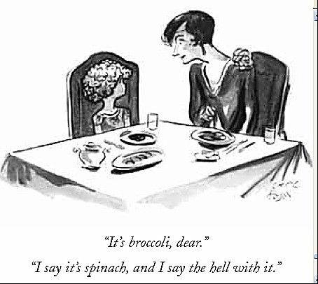A 1928 cartoon in The New Yorker exemplifies how broccoli has long been a much-hated vegetable in American culture.