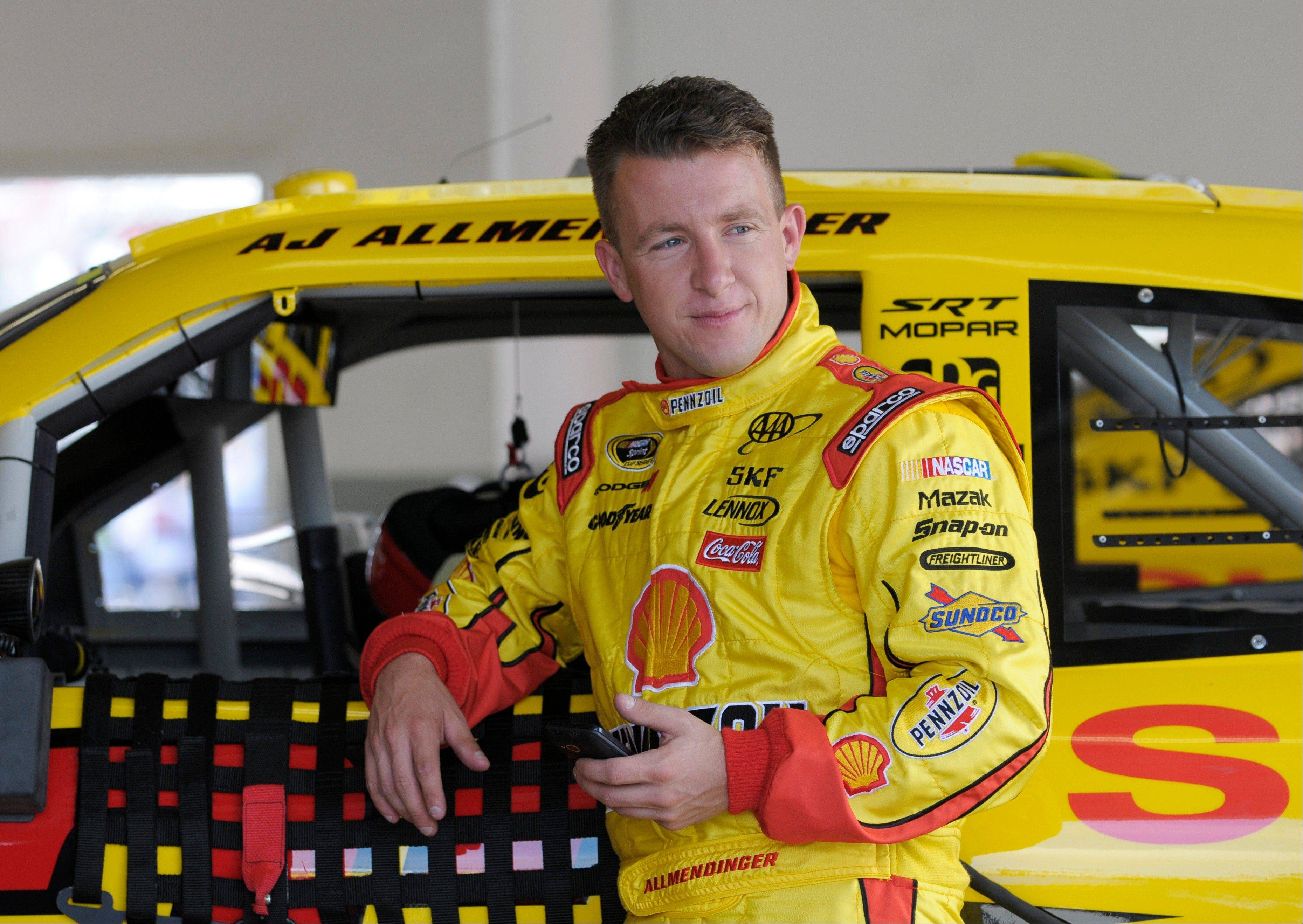 NASCAR has temporarily suspended AJ Allmendinger after he failed a drug test. Allmendinger won't be allowed to drive tonight in the Sprint Cup race at Daytona. Instead, Sam Hornish Jr. will be behind the wheel of the No. 22 Dodge for Penske Racing. Allmendinger has 72 hours to request that his B sample be tested.