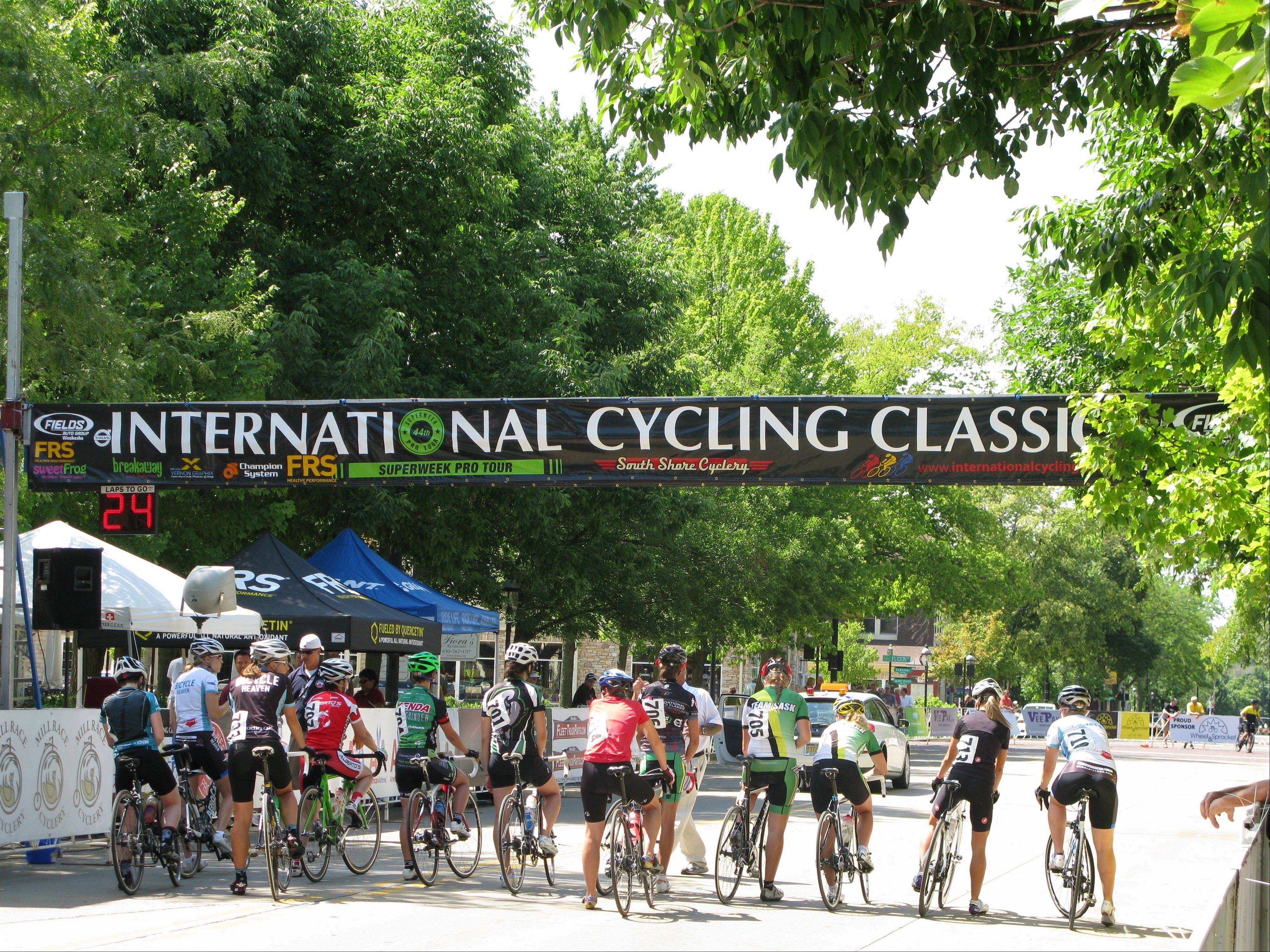 A dozen amateur women competed in the first race of the Mill Race Cyclery Classic Sunday in downtown Geneva. The race kicked off more than eight hours of amateur and pro-level contests that have proved to feature the highest level of future talent in the sport.