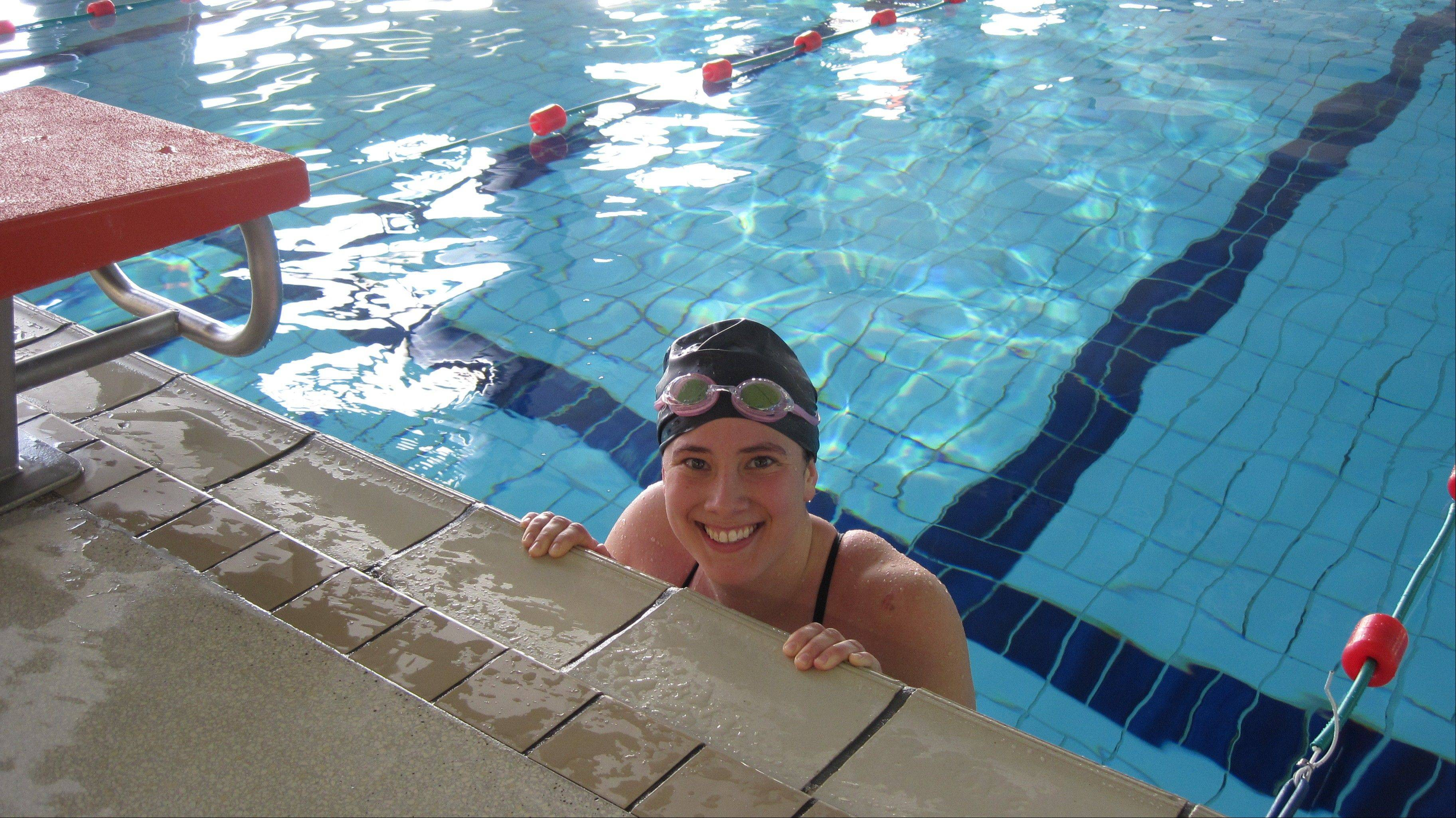 Wheaton native Marian Cardwell is training to swim the English Channel this month as part of a fundraising effort to find a functional cure for diabetes.