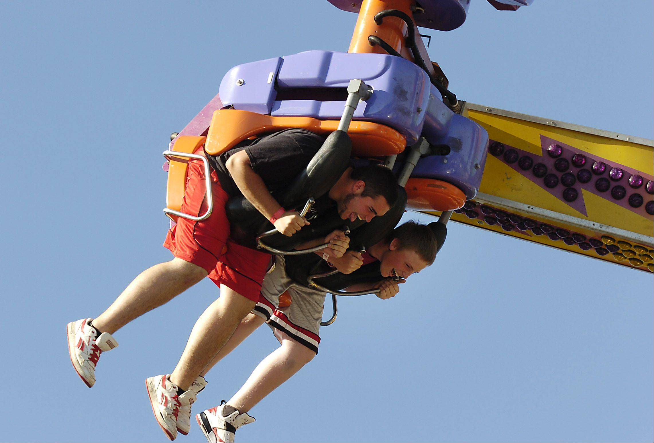 Guests can spin, twist and soar on carnival rides at the annual Arlington Heights Frontier Days this weekend.