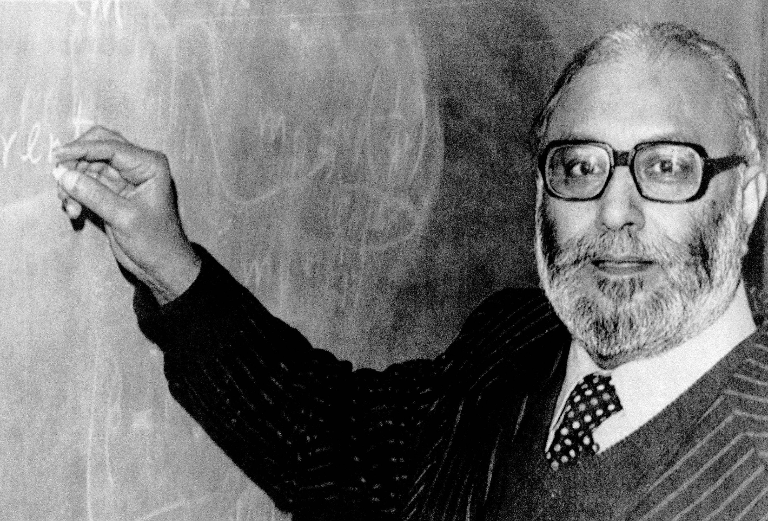"Pakistani Professor Abdus Salam, pictured in 1979 after learning he had won the Nobel Prize, helped develop the theoretical framework that led physicists to discover the ""God particle"" this week, yet he is not celebrated by his country and schoolchildren are rarely even taught his name."