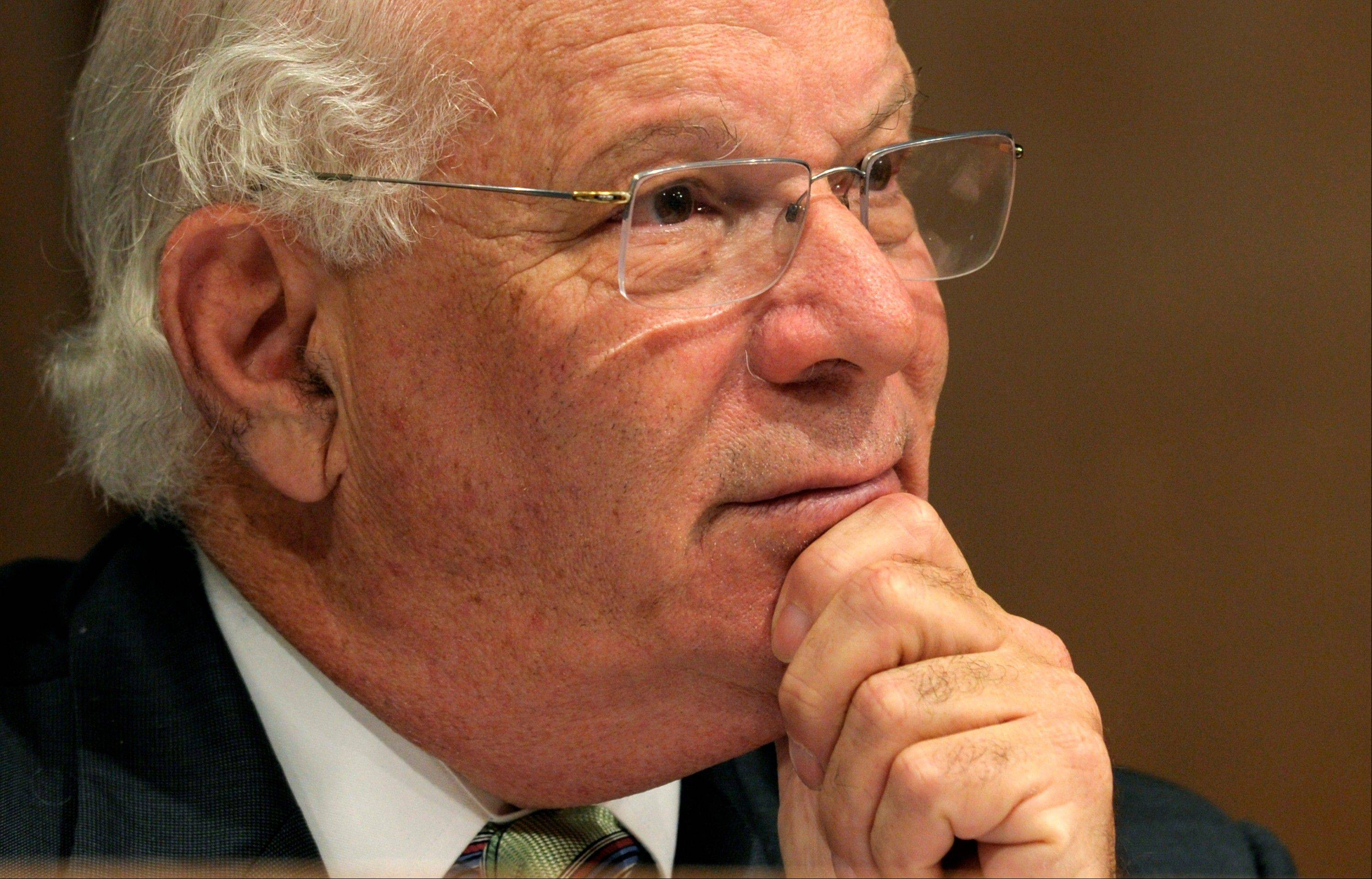 Sen. Benjamin Cardin, D-Md., takes part in a hearing on Capitol in Washington.