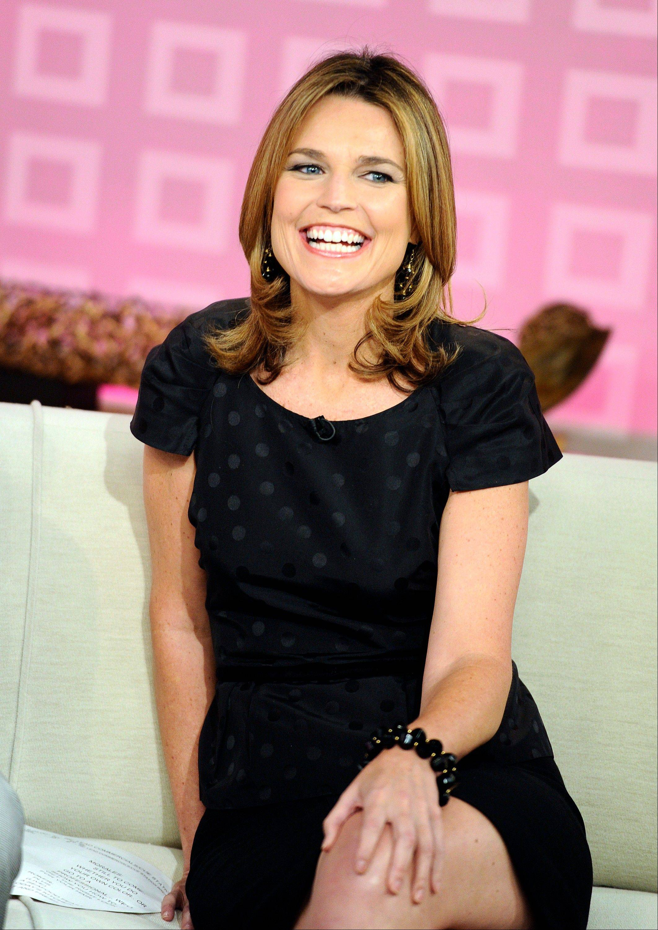 Savannah Guthrie started Monday in her new role as co-host of NBC�s �Today� show.