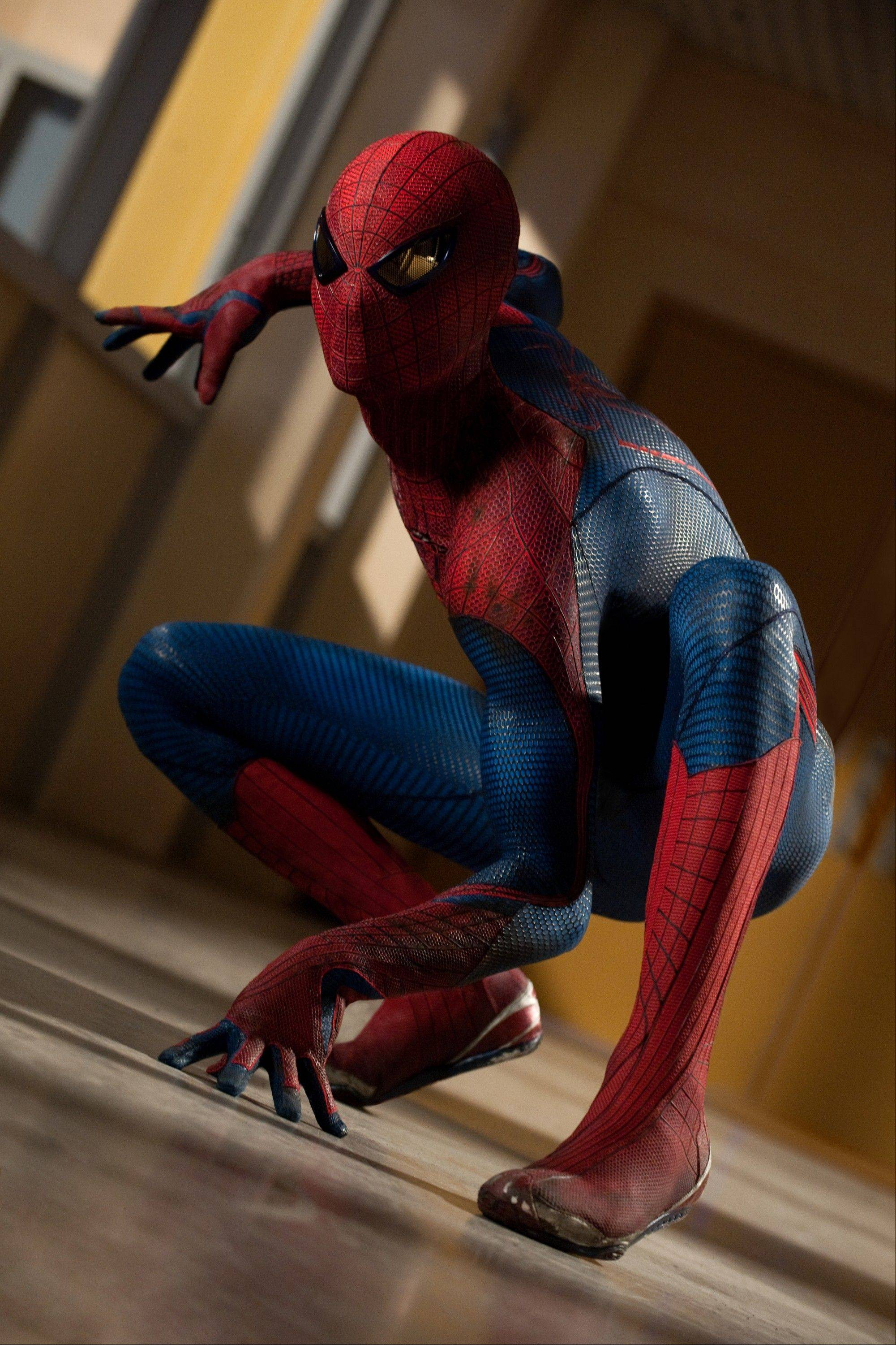 "Peter Parker (Andrew Garfield) takes to the streets to protect New Yorkers in ""The Amazing Spider-Man."""