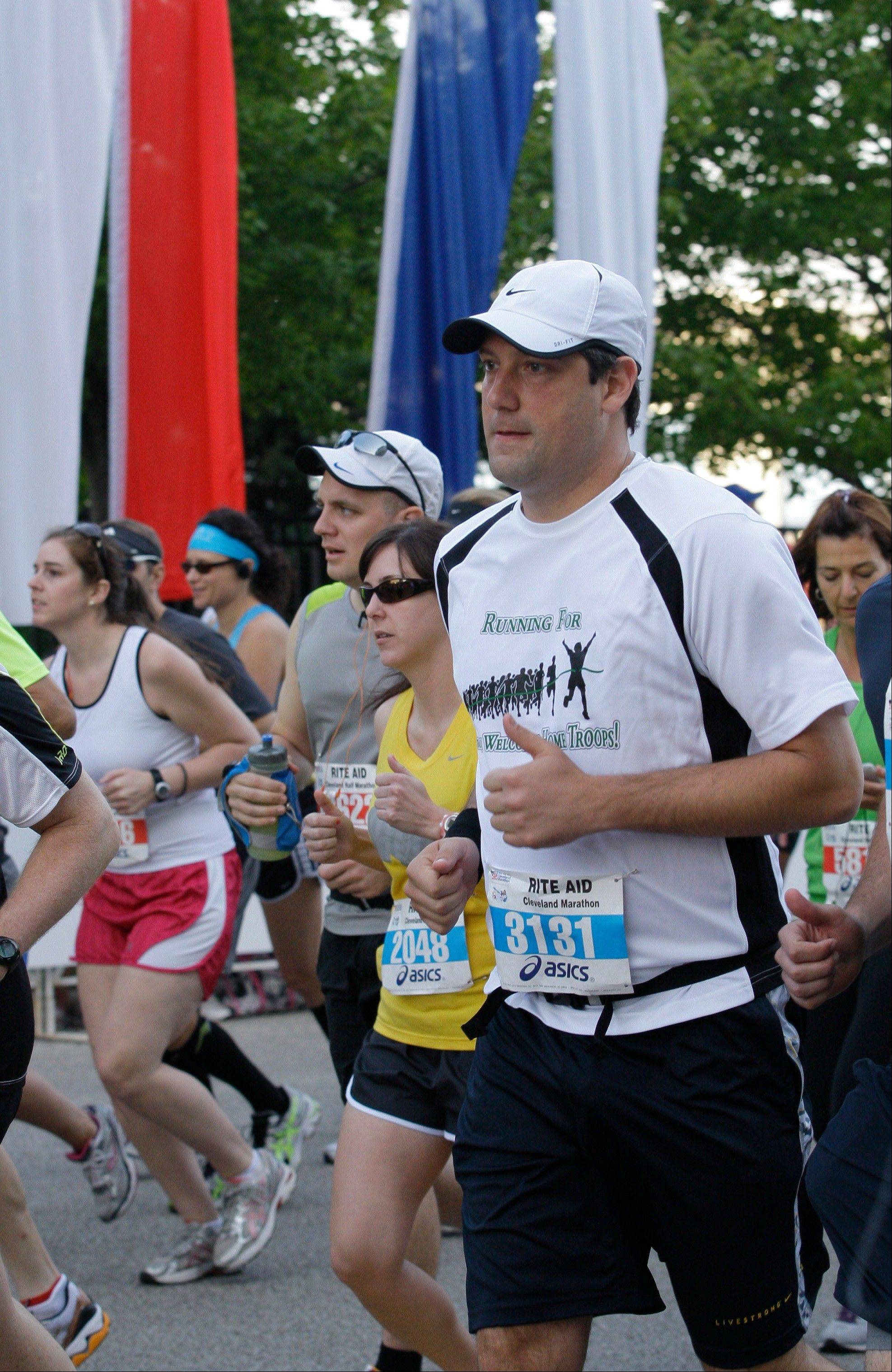 Congressman Tim Ryan runs in the Cleveland Marathon last month. Every day Ryan engages in the practice of mindfulness, a mental technique that dwells on breathing, periods of silence and concentration to keep one's thoughts in the present moment.
