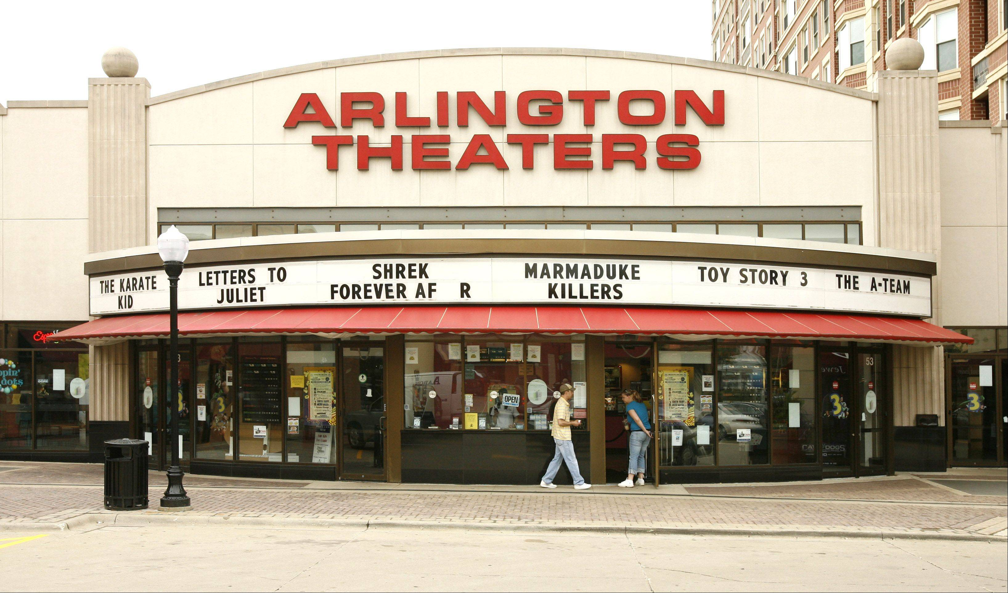 The Arlington Theaters, 53 S. Evergreen Ave. in Arlington Heights, closed on Sunday.