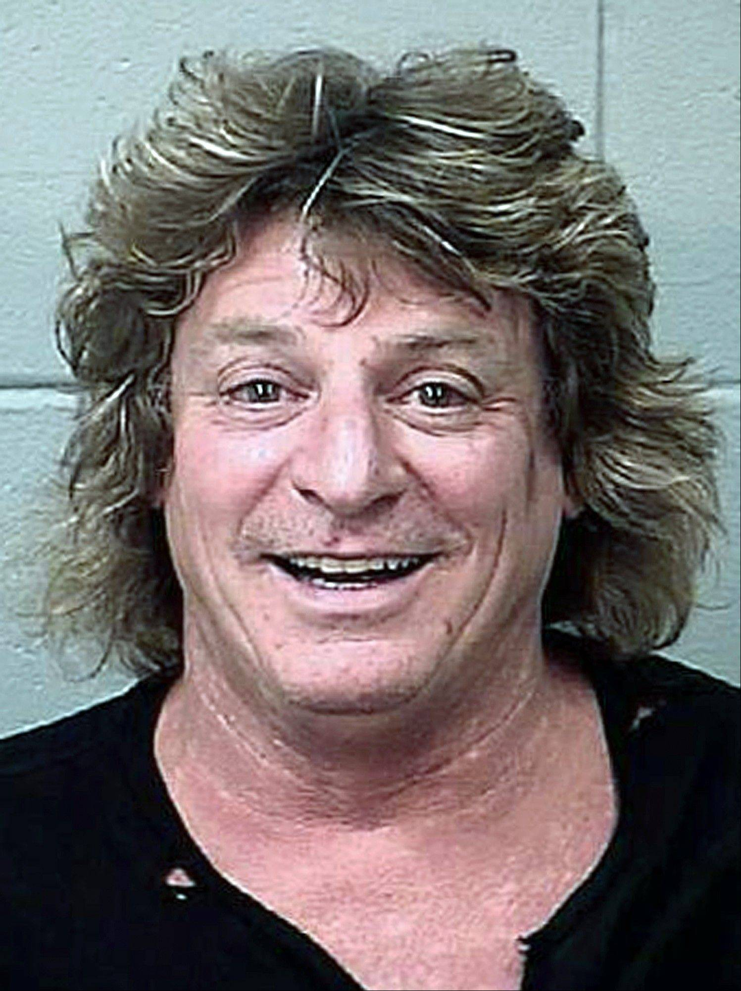 Mick Brown, drummer for classic rocker Ted Nugent, was arrested in Bangor, Maine, Sunday night and charged with driving drunk in a golf cart stolen from a concert venue.