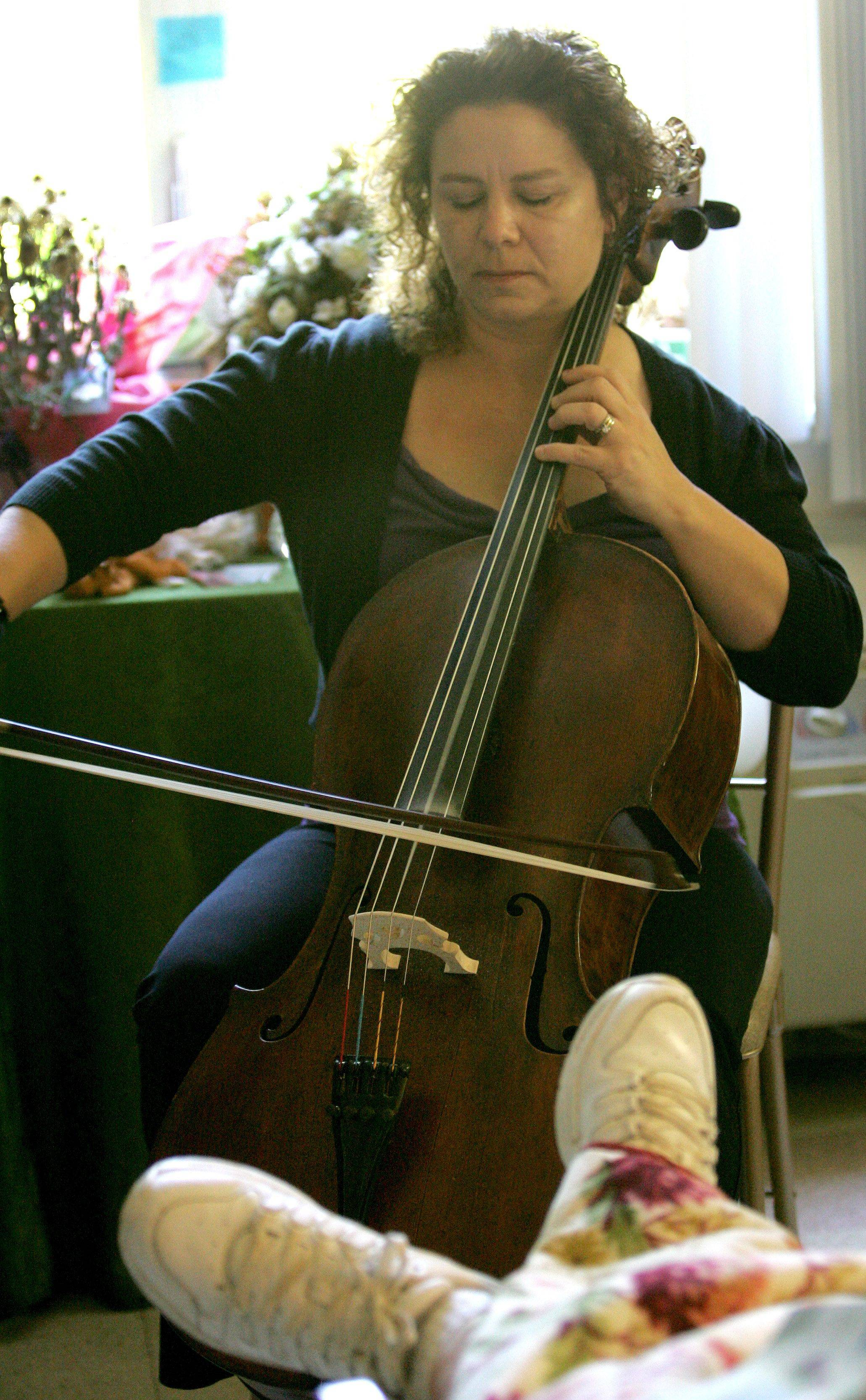 Pippa Downs of Wheaton plays her cello once a month for residents of Wynscape Skilled Nursing and Rehabilitation in Wheaton.