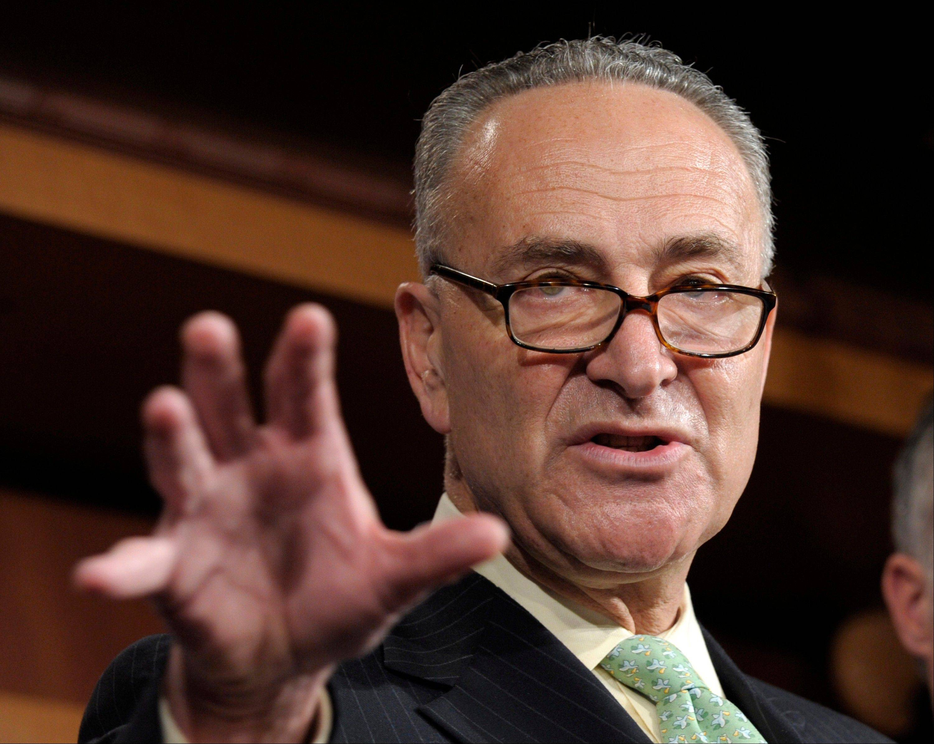 Sen. Charles Schumer, of New York, is among Democrats who want to push tax cuts through the Senate for companies that hire new workers, give raises or buy major new equipment this year.
