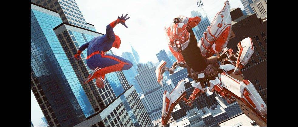 "Spider-Man flies into action in ""The Amazing Spider-Man,"" which lets gamers swing between the skyscrapers of Manhattan."