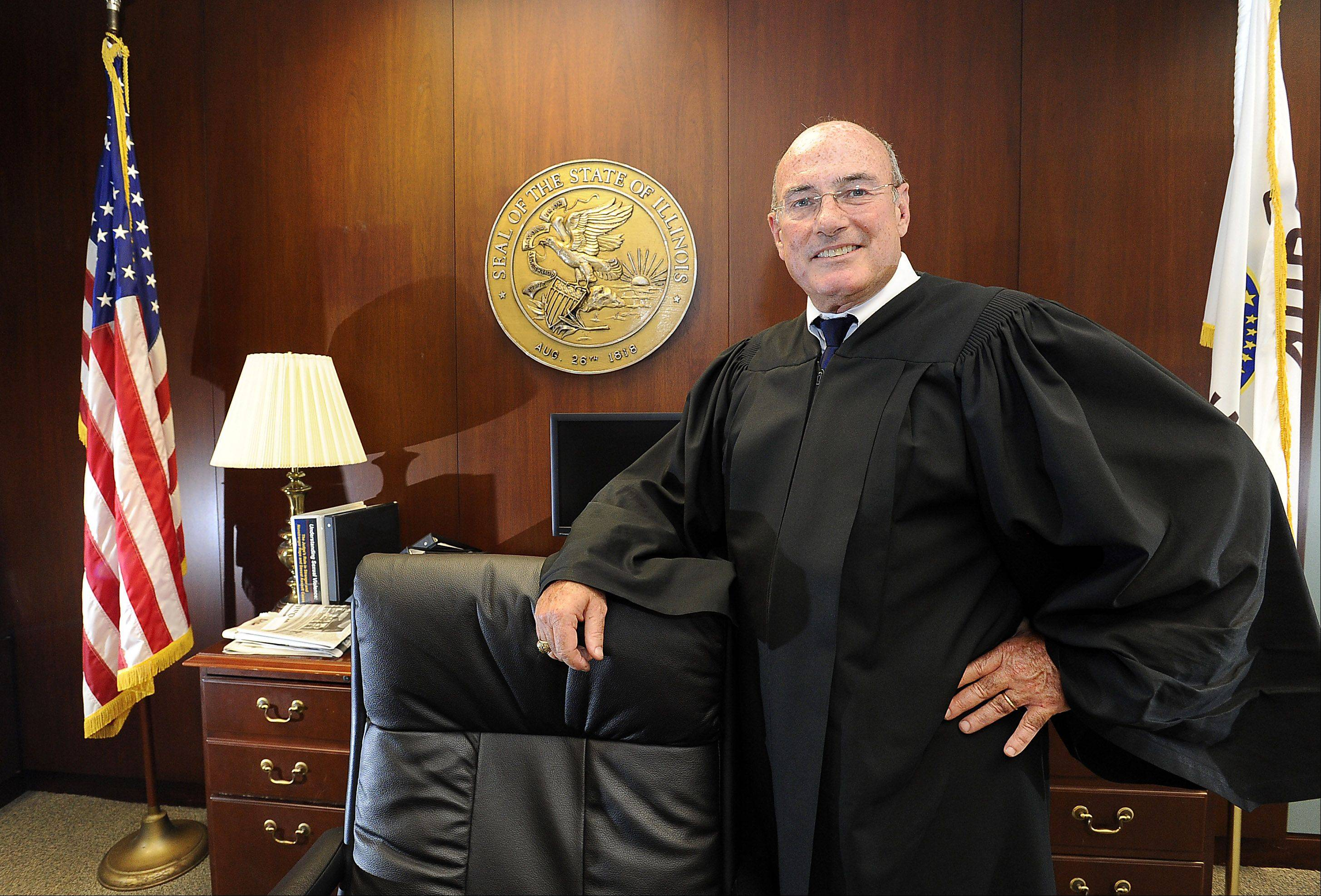 Cook County Associate Judge James P. Etchingham, an Arlington Heights resident who frequently rode his scooter to the Rolling Meadows courthouse, retired Monday after nearly 18 years of public service.