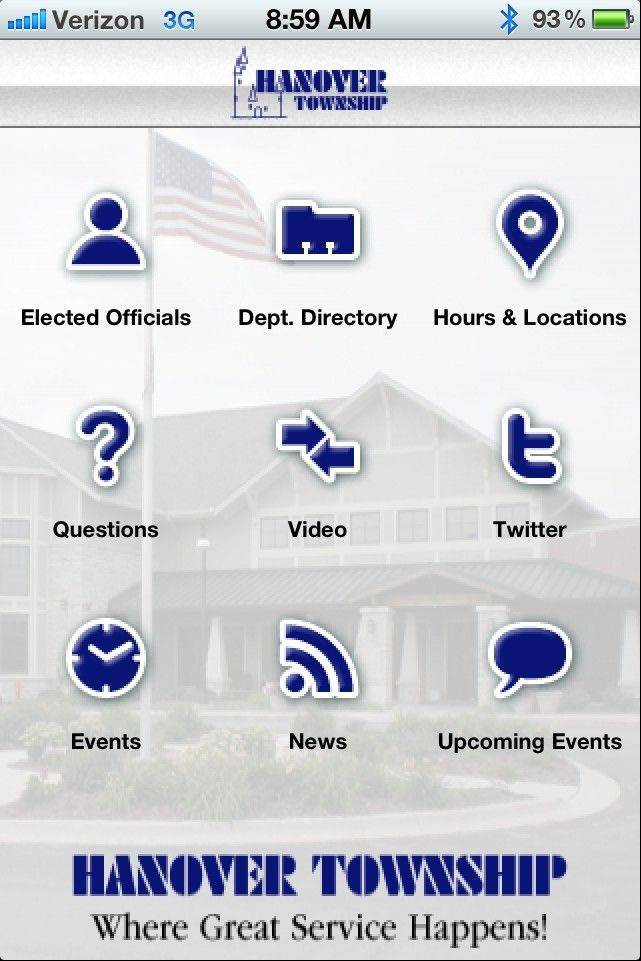 The new iPhone app launched by Hanover Township will give residents a way to stay informed and up to date on what is happening in the community.